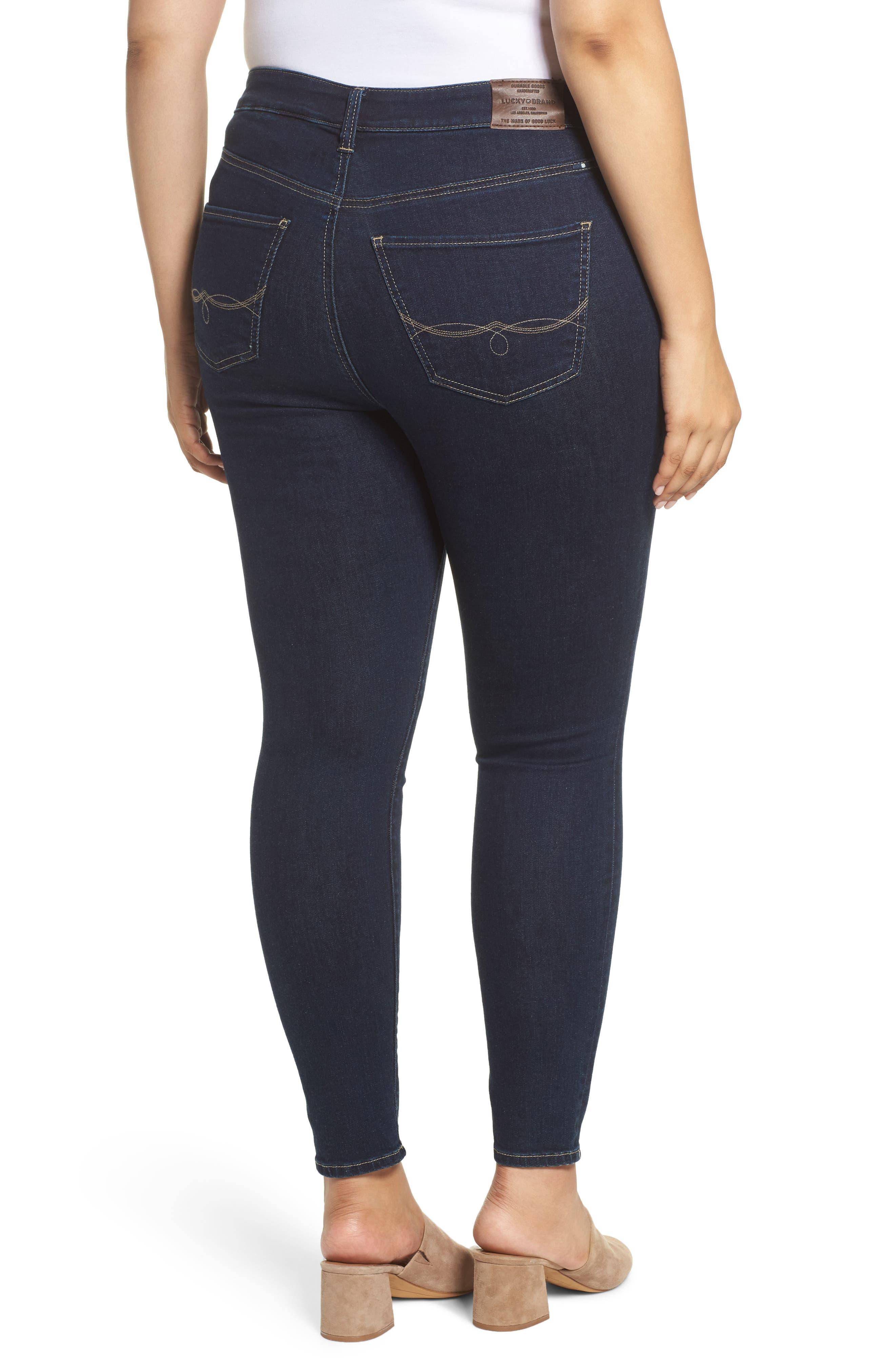 LUCKY BRAND, Emma High Rise Legging Jeans, Alternate thumbnail 2, color, BREAKER