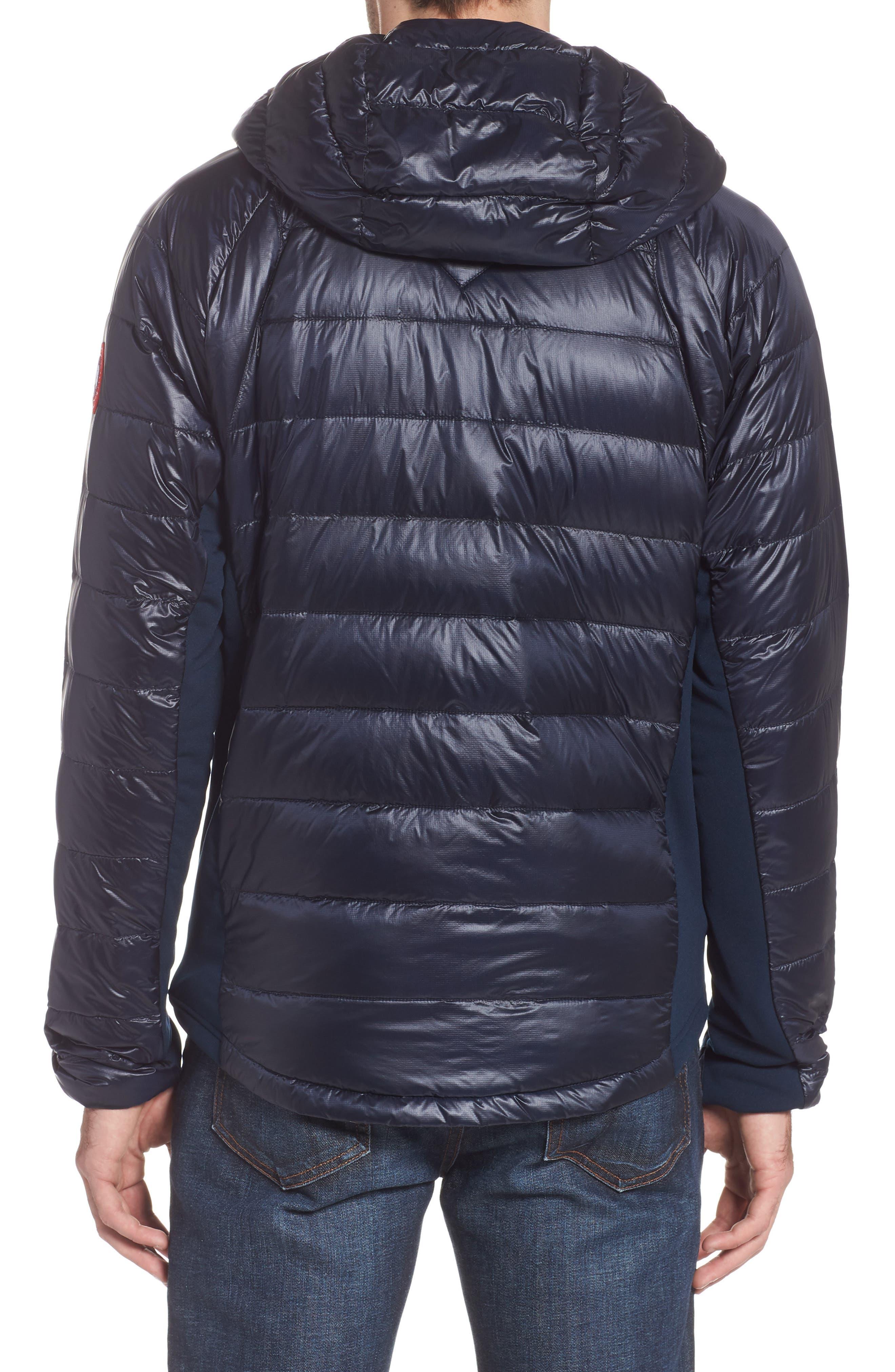 CANADA GOOSE, 'Hybridge<sup>™</sup> Lite Hoody' Slim Fit Packable Jacket, Alternate thumbnail 2, color, ADMIRAL BLUE/ BLACK