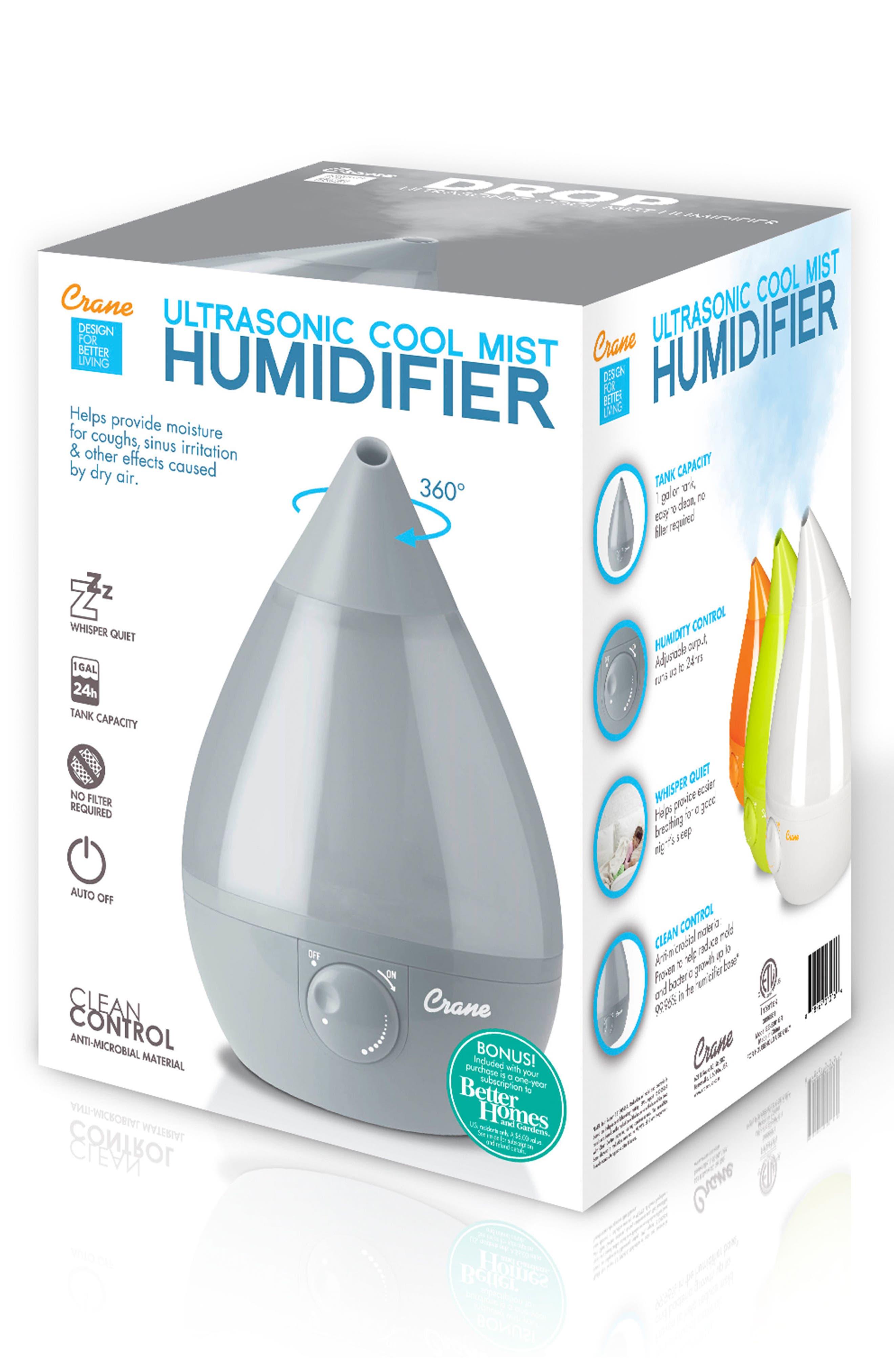 CRANE AIR, 'Droplet' Humidifier, Alternate thumbnail 3, color, GREY
