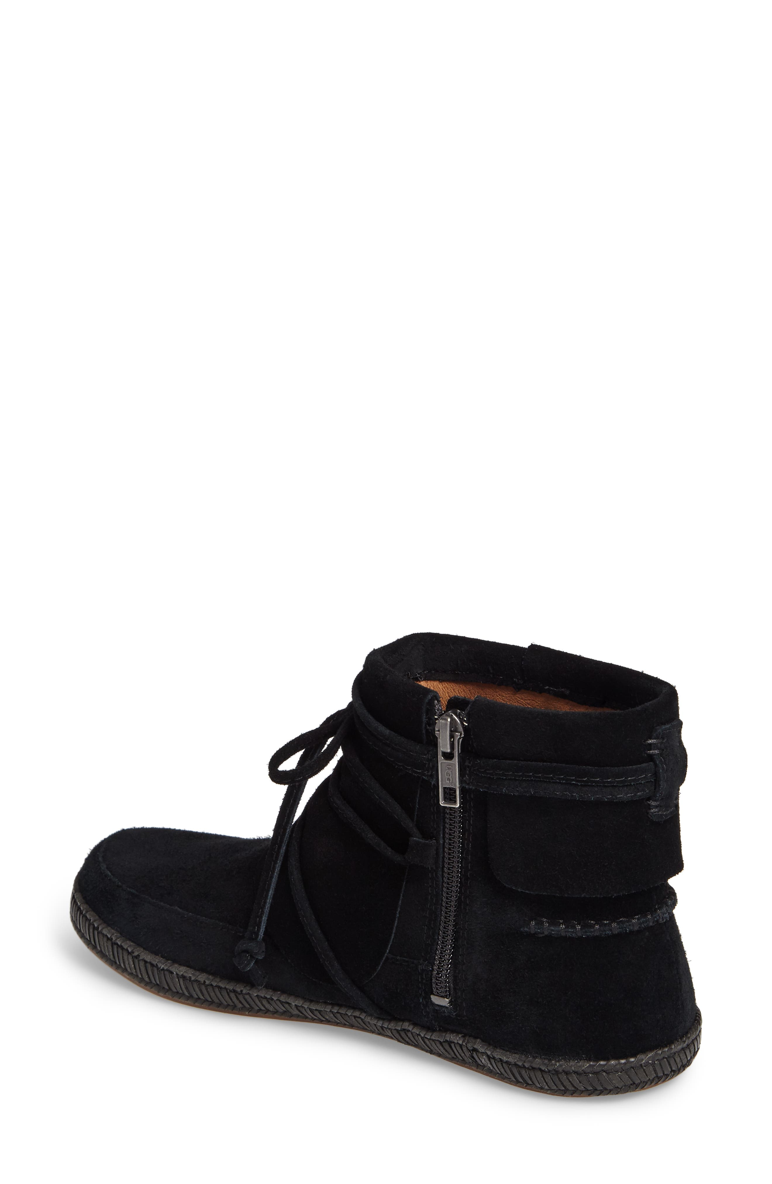 UGG<SUP>®</SUP>, Reid Boot, Alternate thumbnail 2, color, BLACK SUEDE