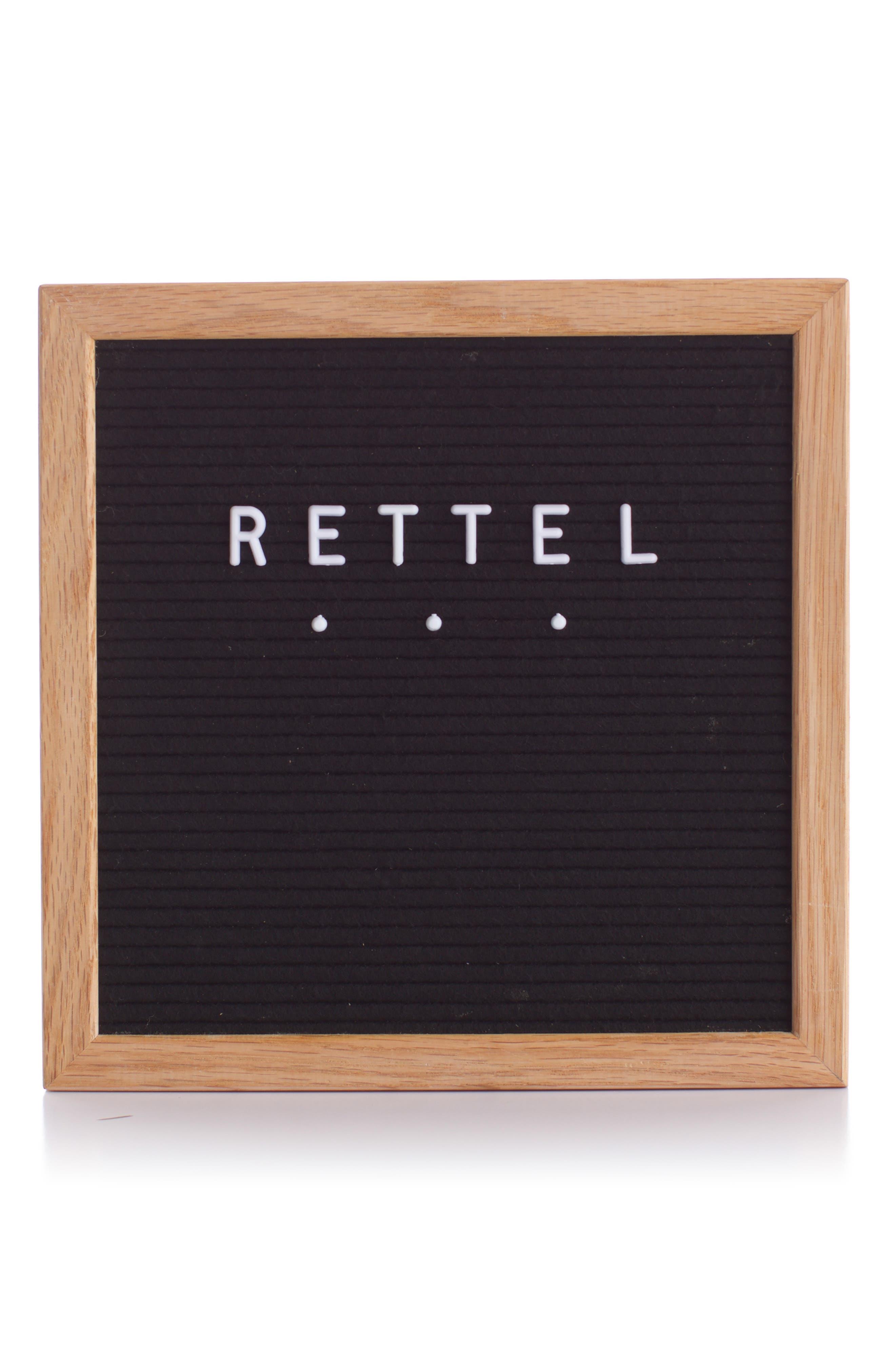 RETTEL, Small Talk Letterboard, Main thumbnail 1, color, BLACK