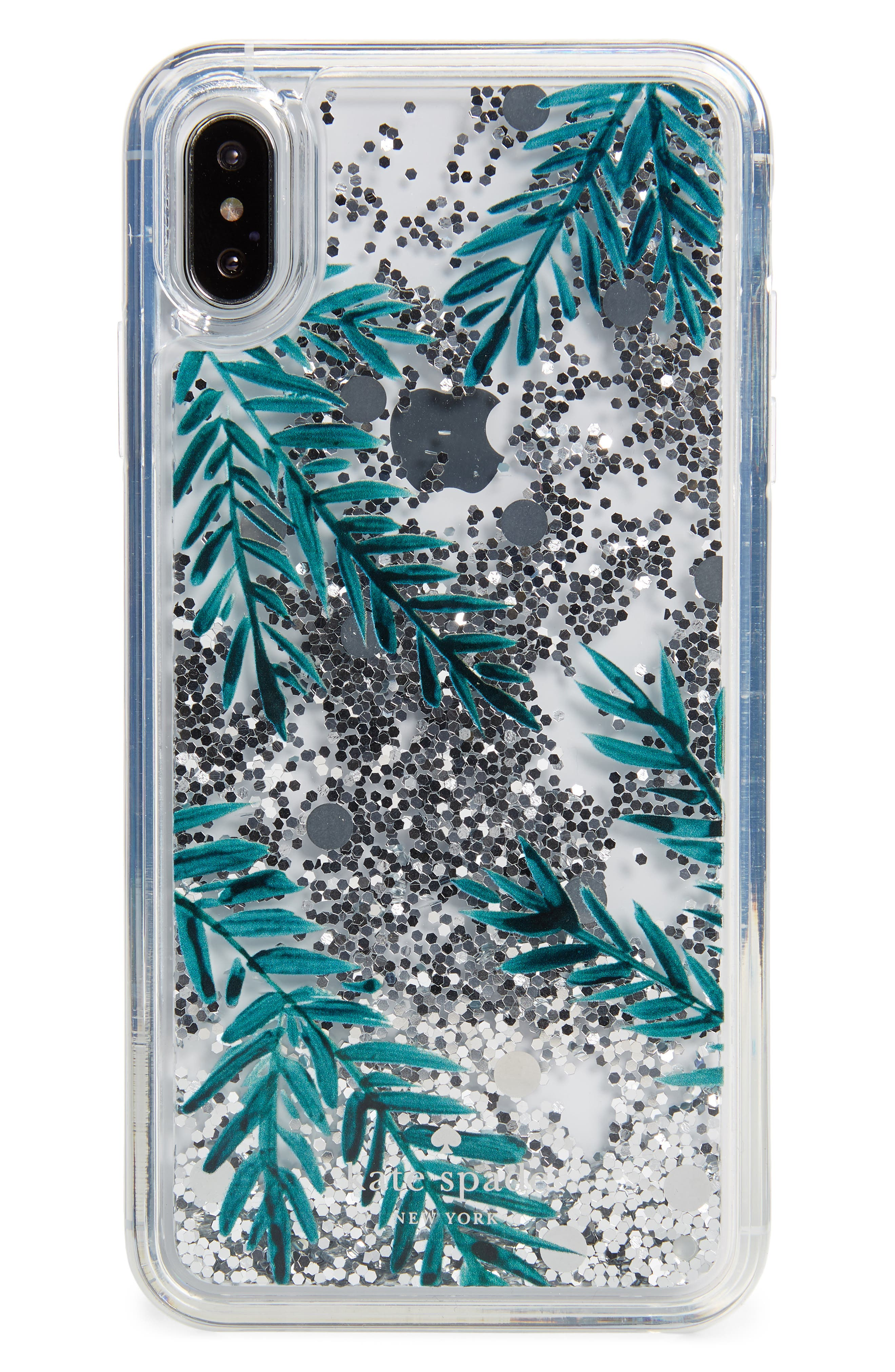 KATE SPADE NEW YORK, holly glitter iPhone X/Xs/Xs Max & XR case, Main thumbnail 1, color, 300