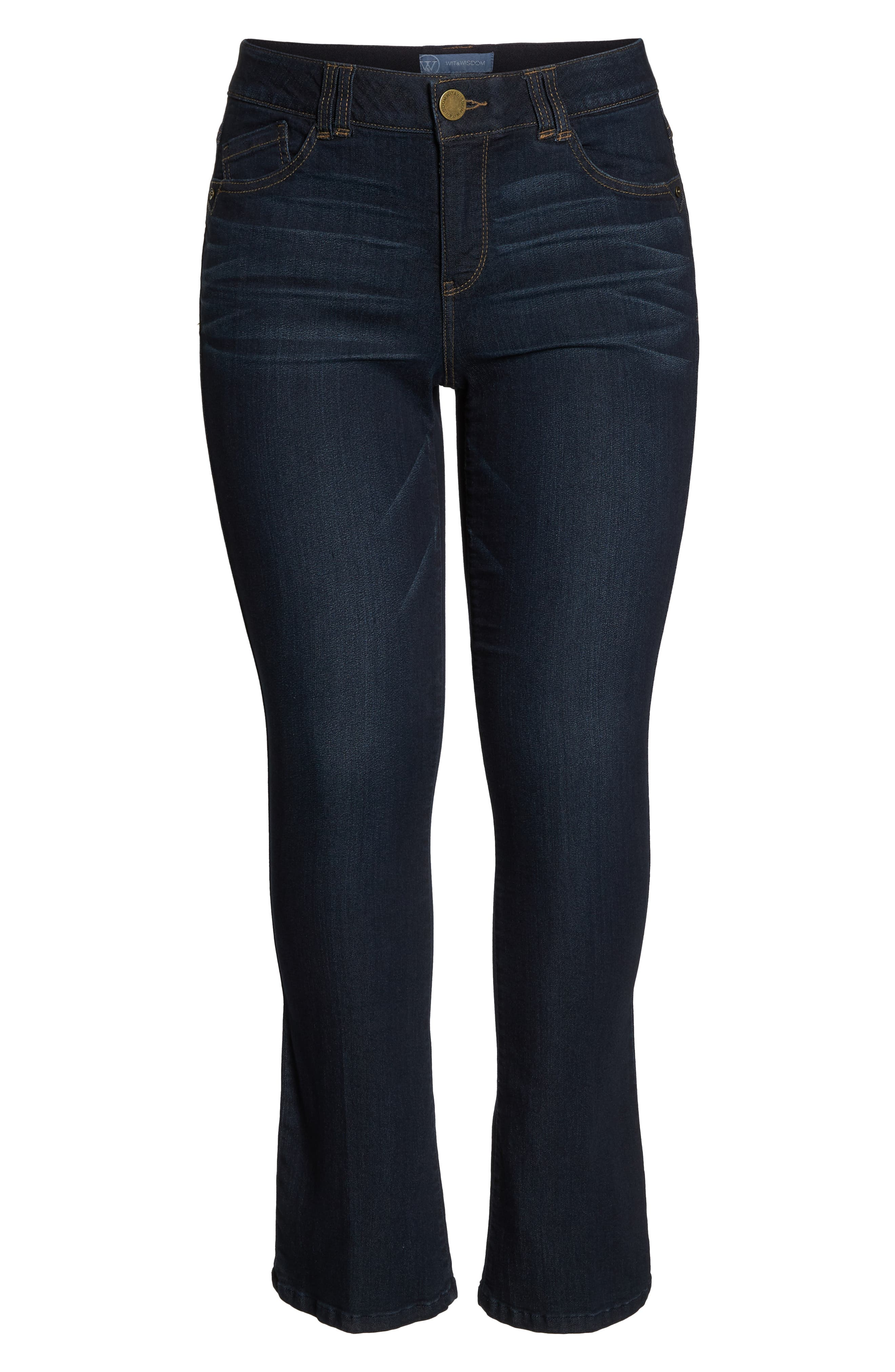 WIT & WISDOM, 'Itty Bitty' Bootcut Jeans, Alternate thumbnail 7, color, INDIGO
