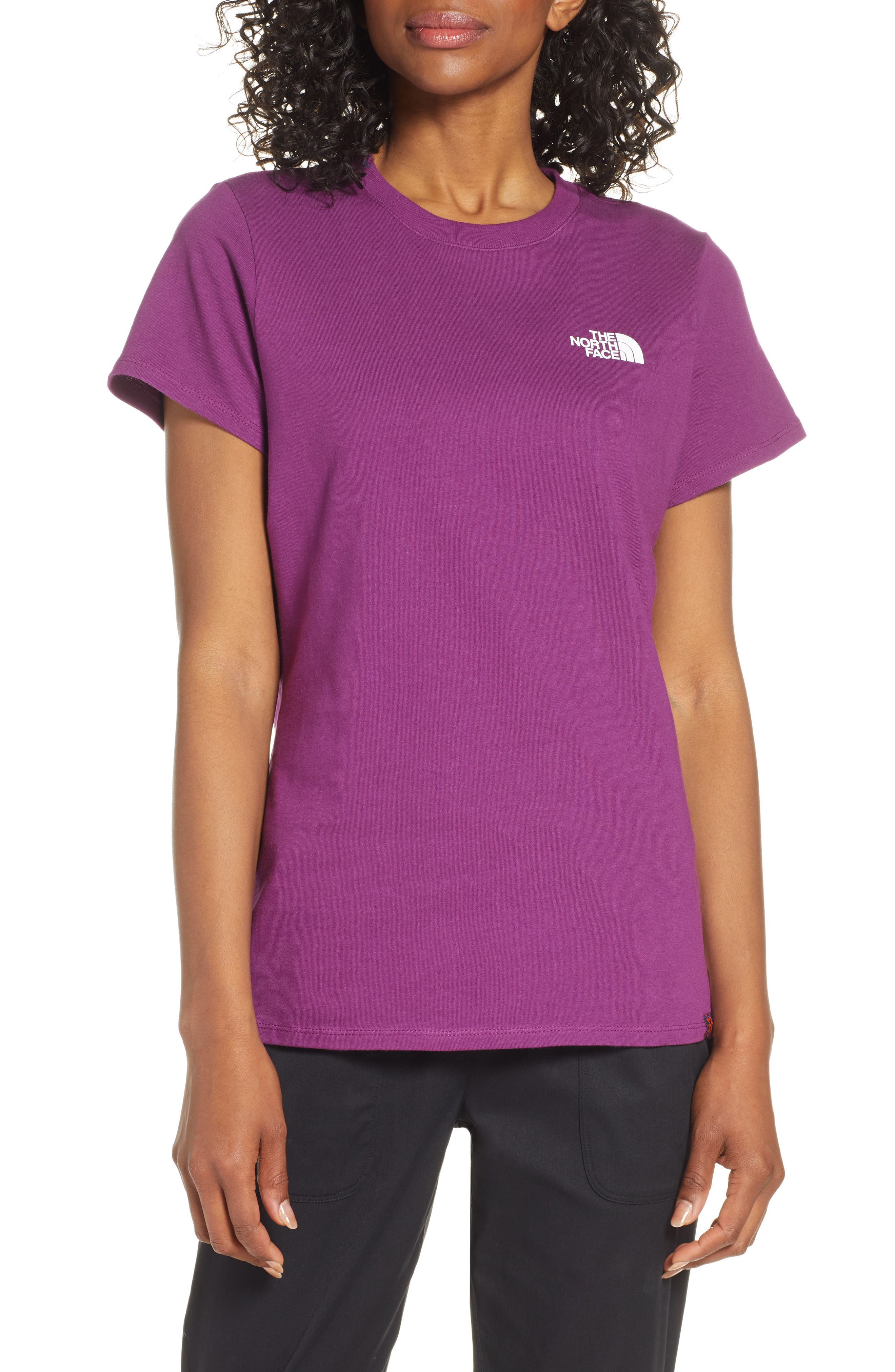 THE NORTH FACE, Red Box Tee, Main thumbnail 1, color, Phlox Purple/Aztec Blue