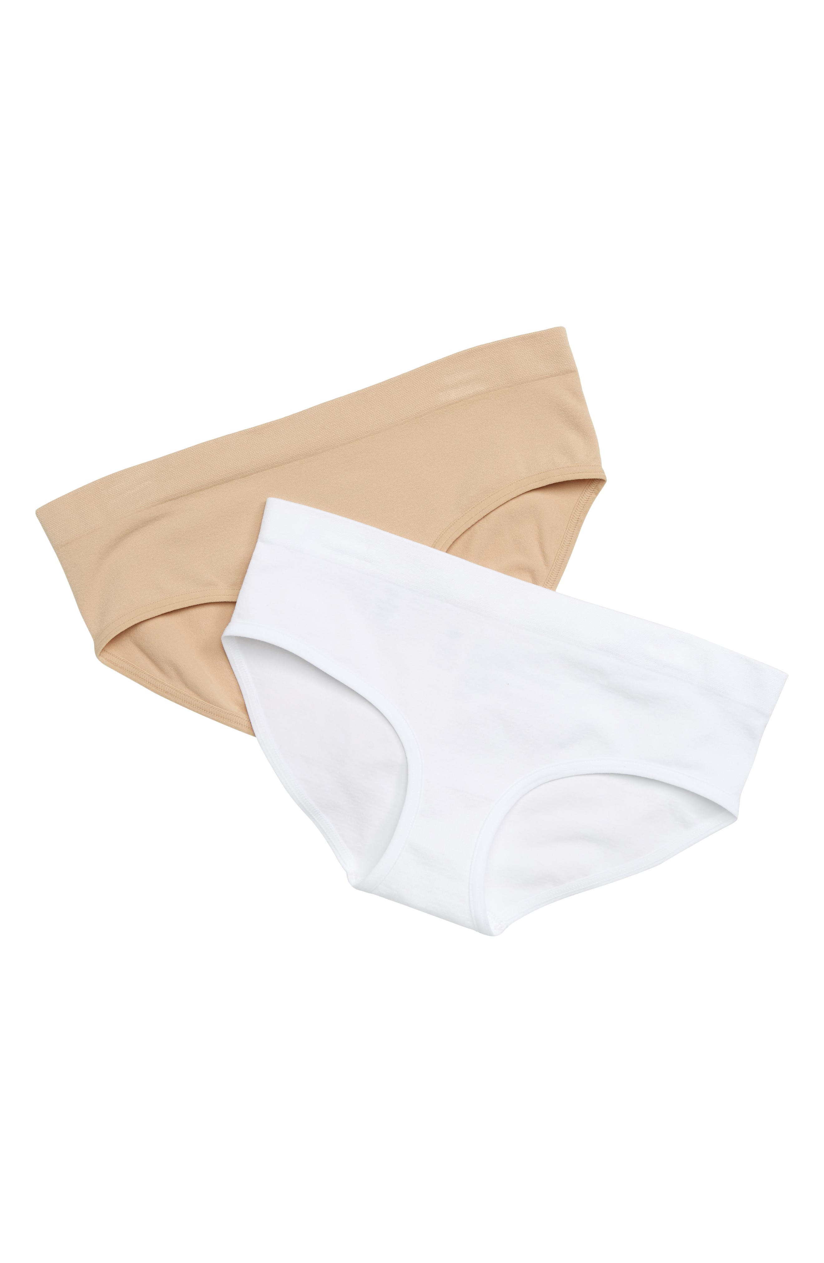 TUCKER + TATE, 2-Pack Seamless Hipster Briefs, Main thumbnail 1, color, 000