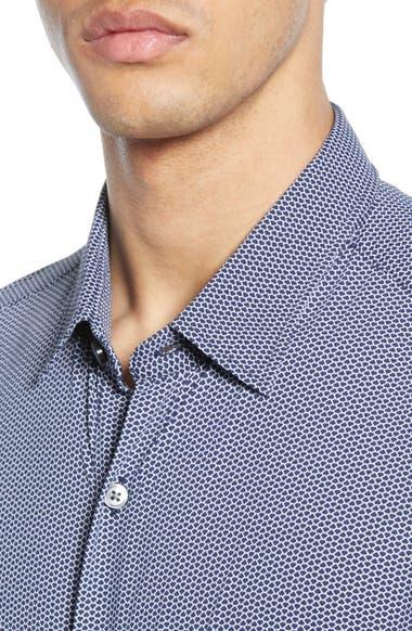 6cd6f2ab BOSS Ronni Slim Fit Micro Print Performance Sport Shirt | Nordstrom