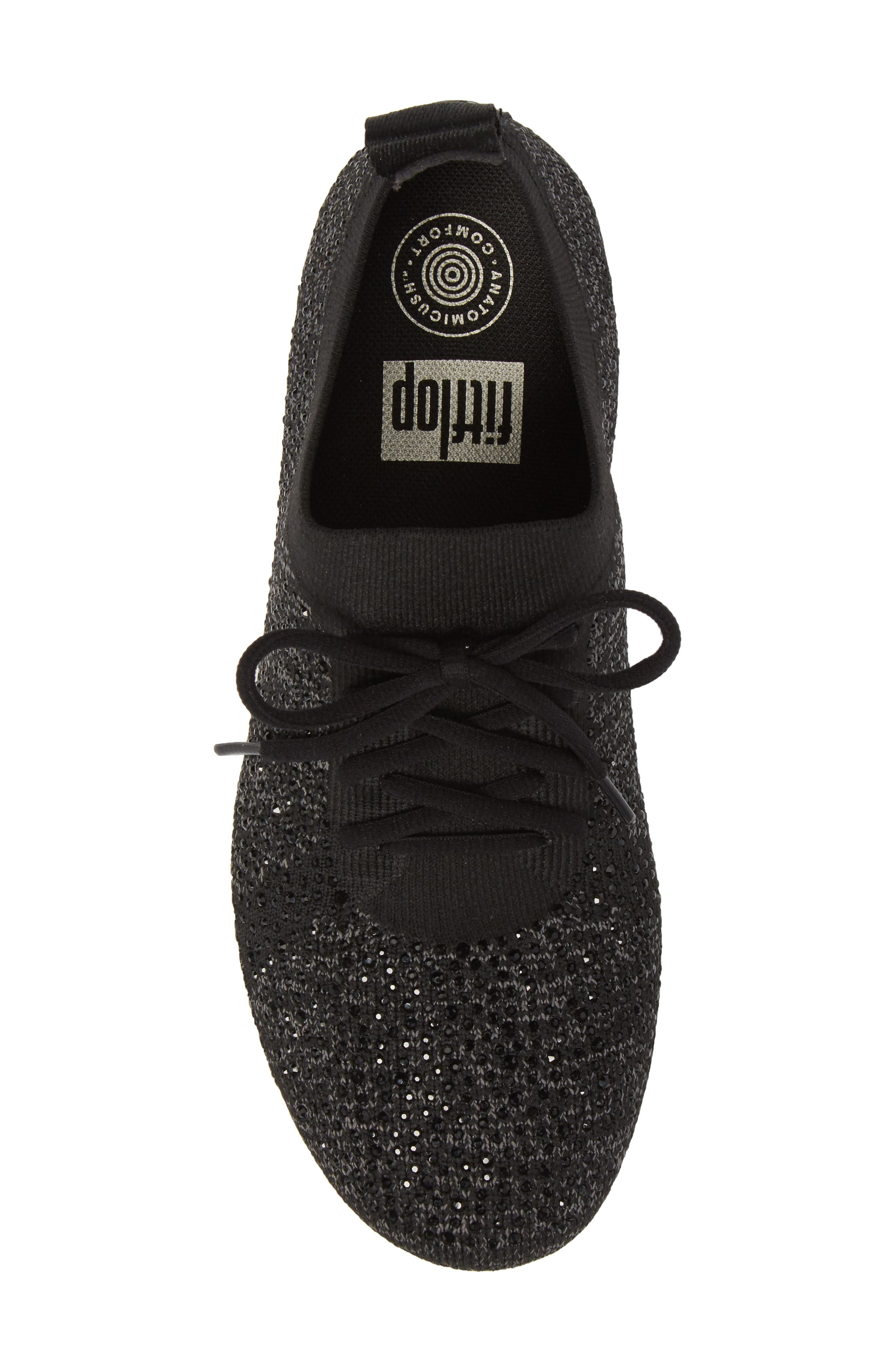 FITFLOP, Uberknit<sup>™</sup> F-Sporty Sneaker, Alternate thumbnail 5, color, 001
