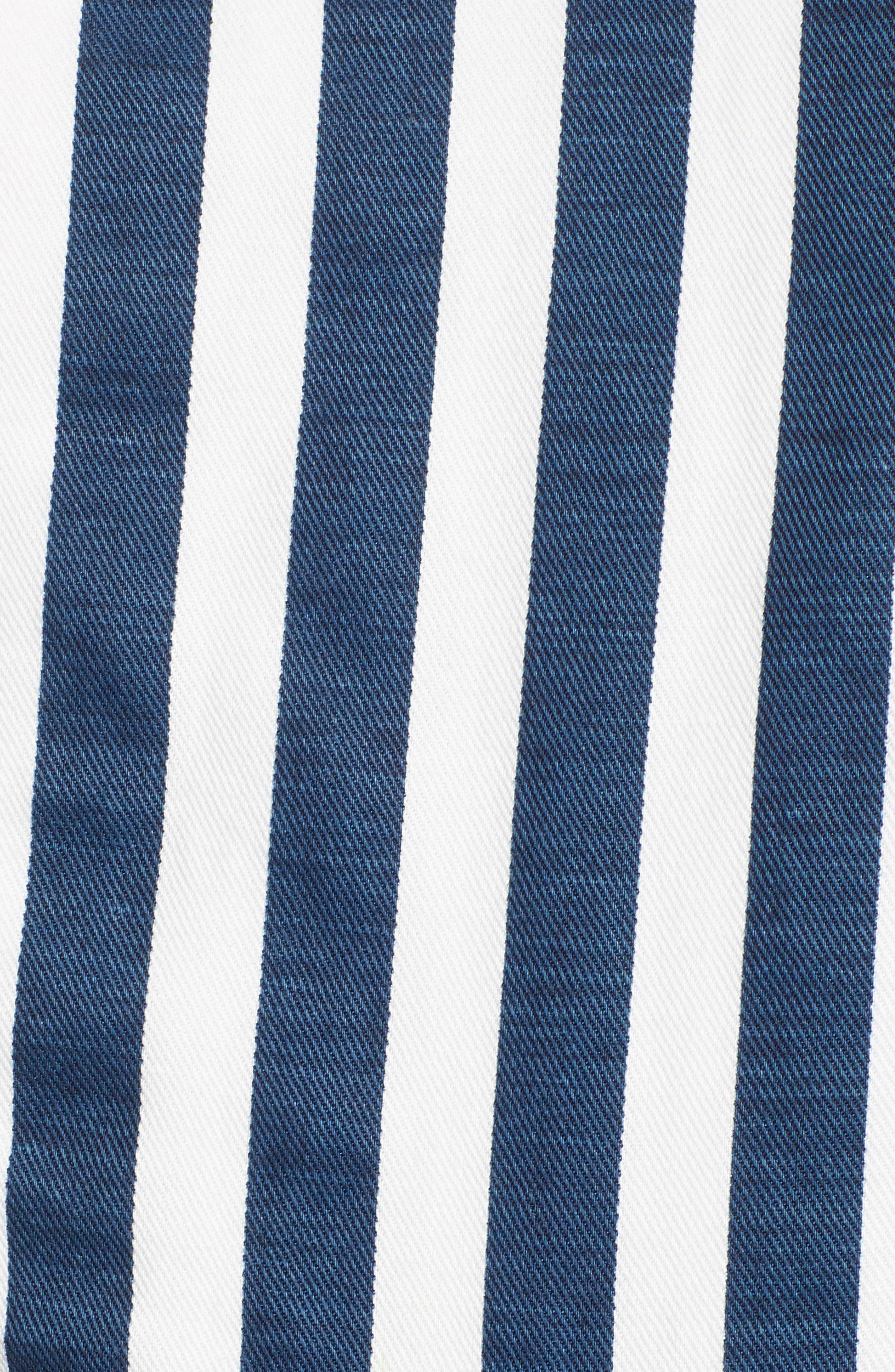 MOTHER, The Cut It Out Stripe Jumpsuit, Alternate thumbnail 6, color, 110