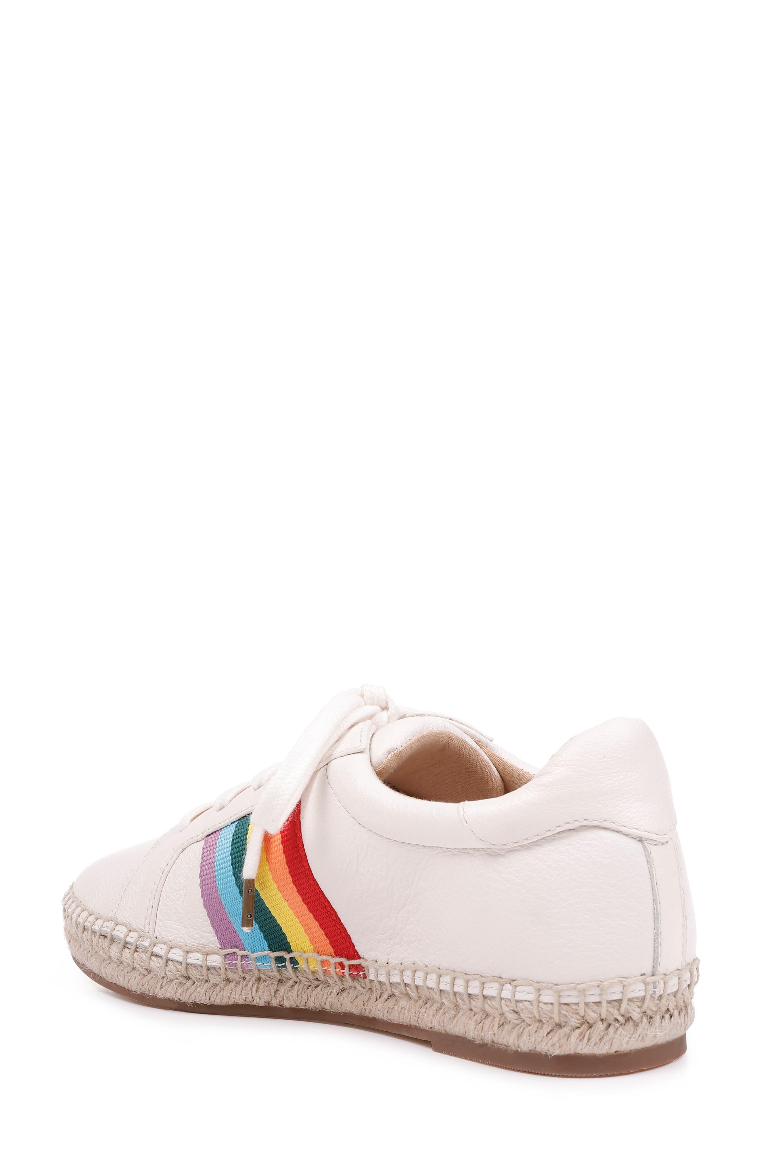 SPLENDID, Sada Espadrille Sneaker, Alternate thumbnail 2, color, OFF WHITE LEATHER