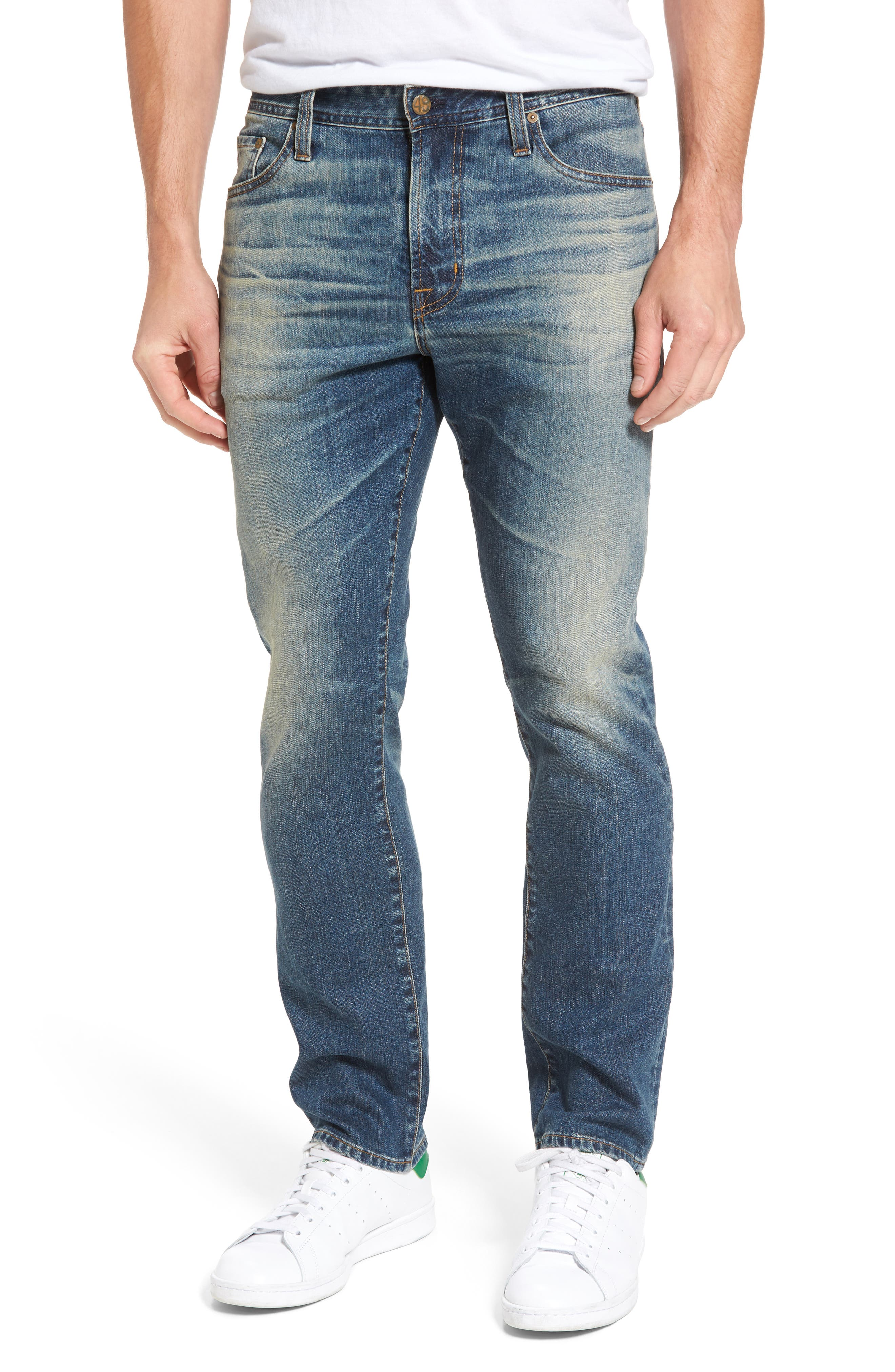 AG Everett Slim Straight Fit Jeans, Main, color, 455