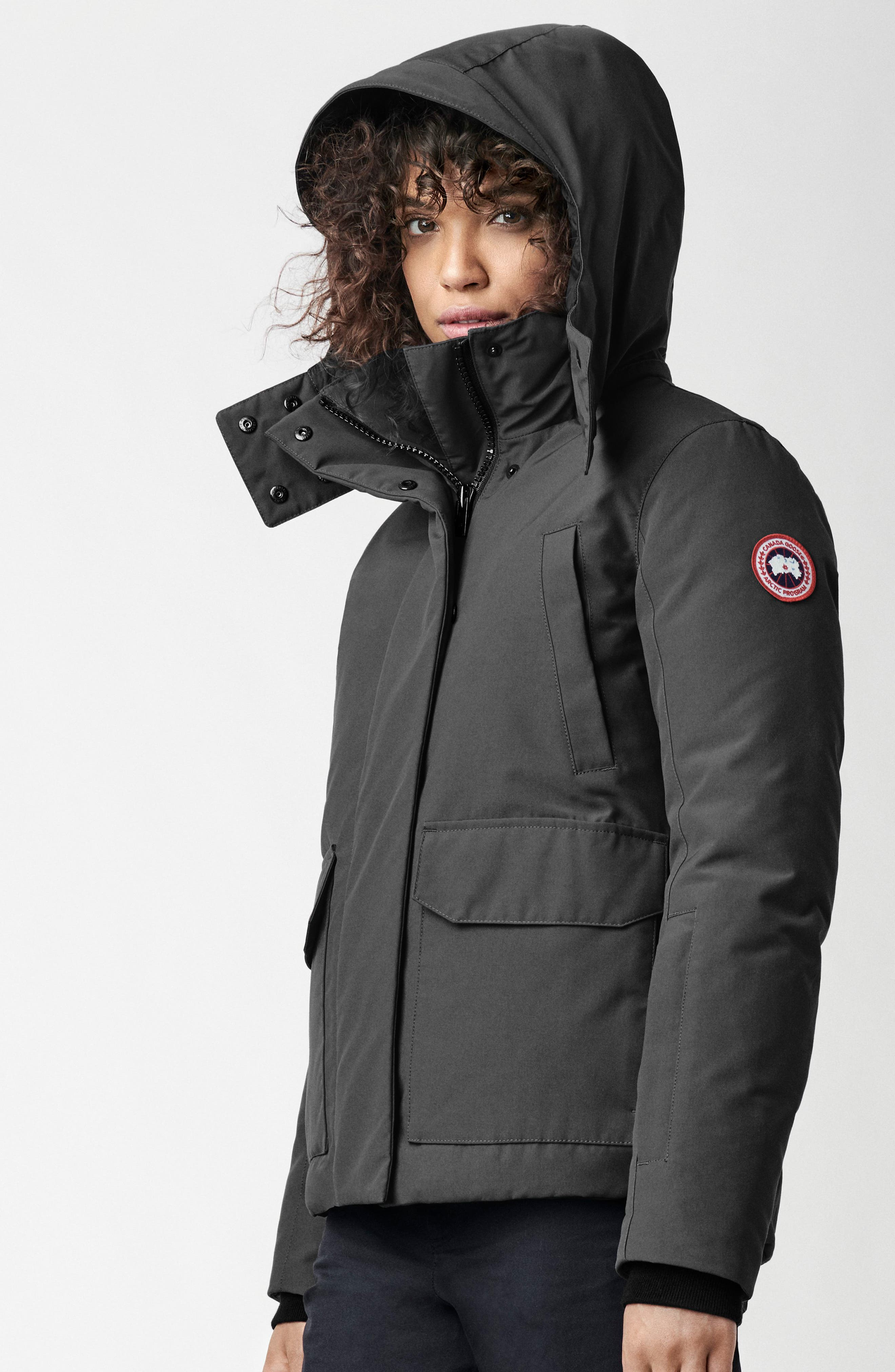 CANADA GOOSE, Blakely Water Resistant 625 Fill Power Down Parka, Alternate thumbnail 6, color, GRAPHITE