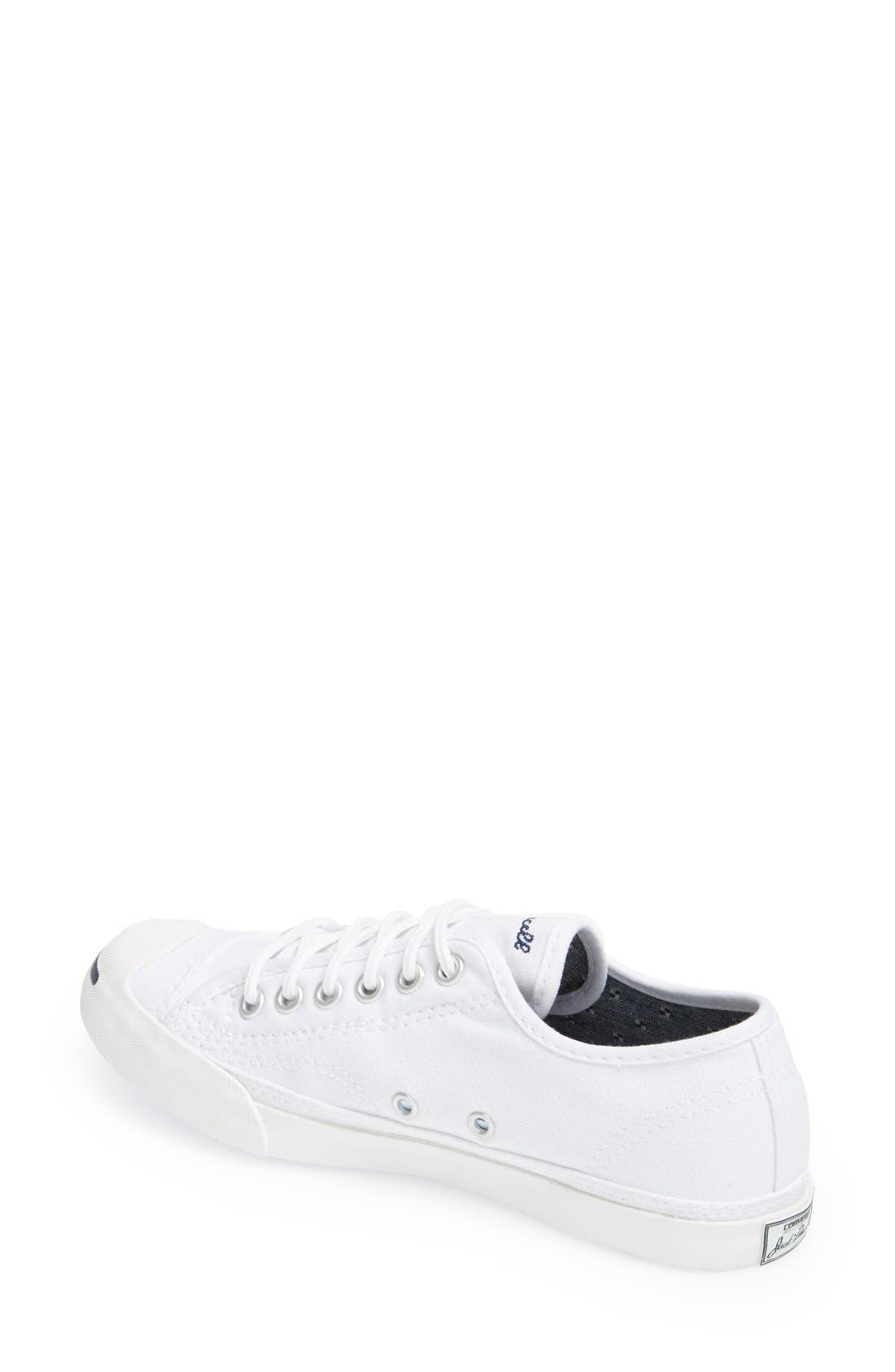 CONVERSE, Jack Purcell Low Top Sneaker, Alternate thumbnail 6, color, OPTIC WHITE