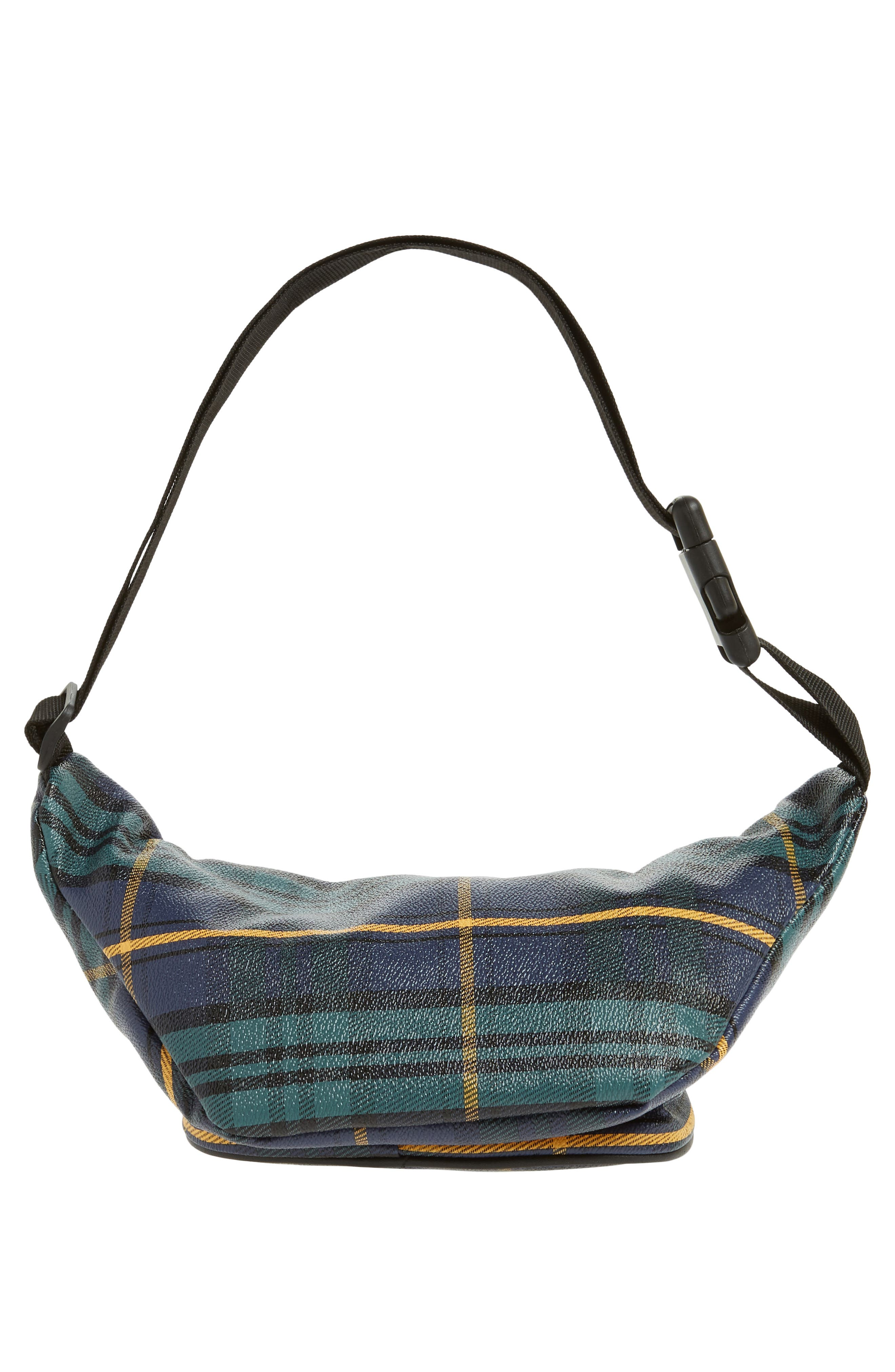 JANE & BERRY, Plaid Belt Bag, Alternate thumbnail 7, color, 300