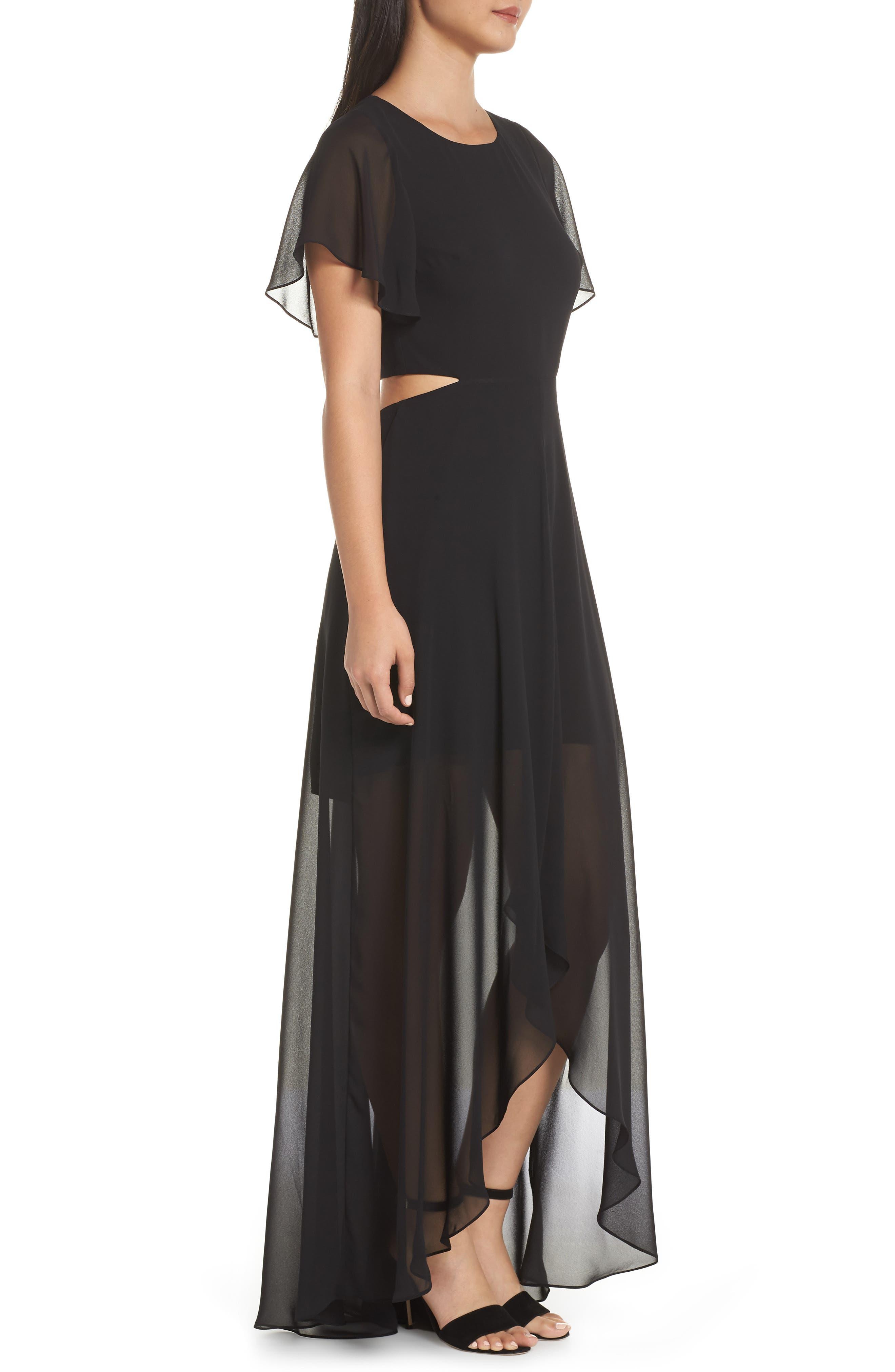 ALI & JAY, Cutout Maxi Dress, Alternate thumbnail 4, color, BLACK