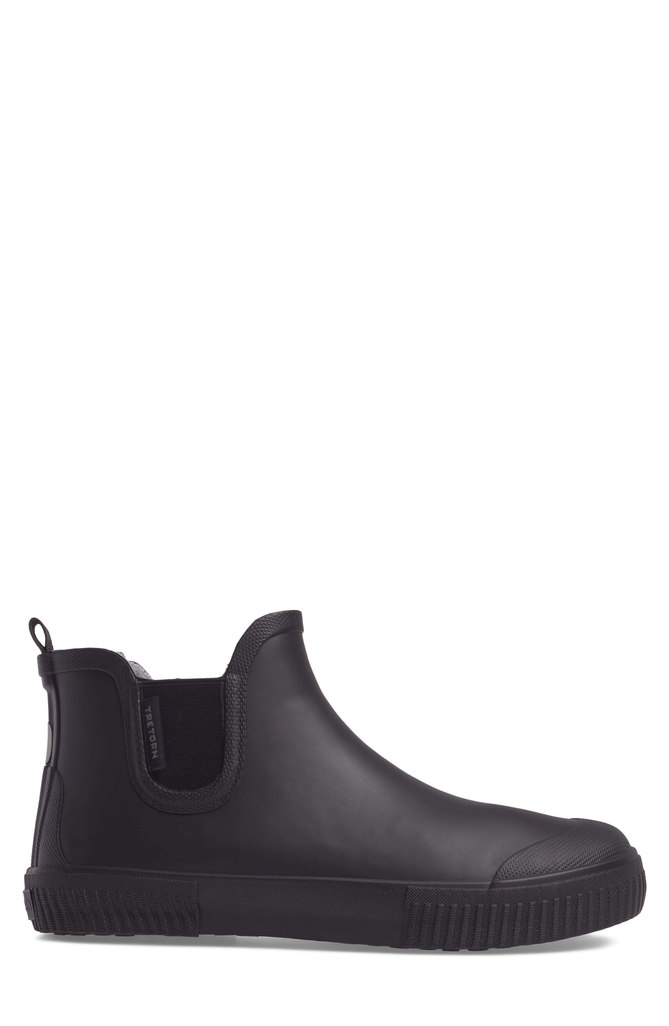 TRETORN, Guswnt Chelsea Waterproof Boot, Alternate thumbnail 3, color, BLACK/ BLACK