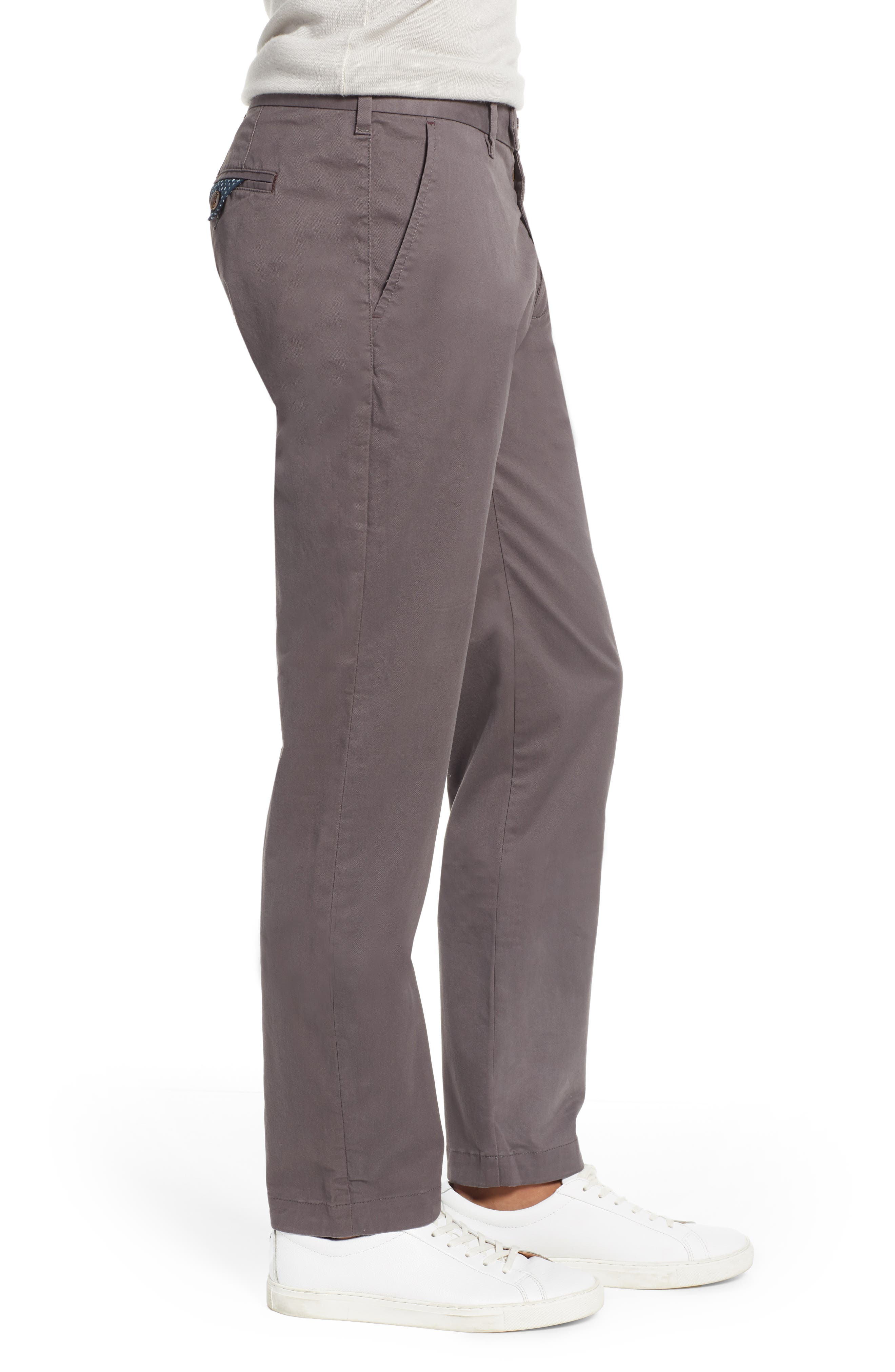 TED BAKER LONDON, Selebtt Slim Fit Stretch Cotton Chinos, Alternate thumbnail 3, color, 020