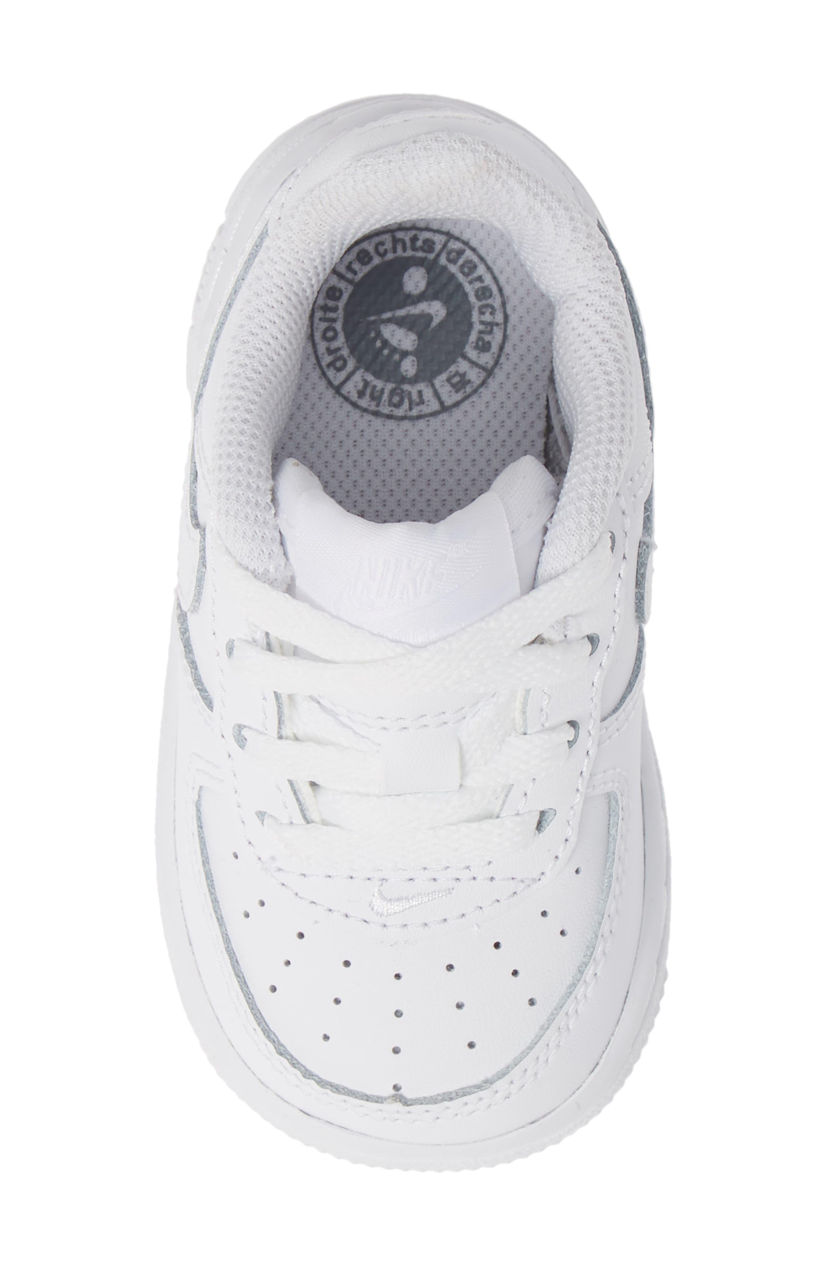 NIKE, Air Force 1 Sneaker, Alternate thumbnail 5, color, WHITE