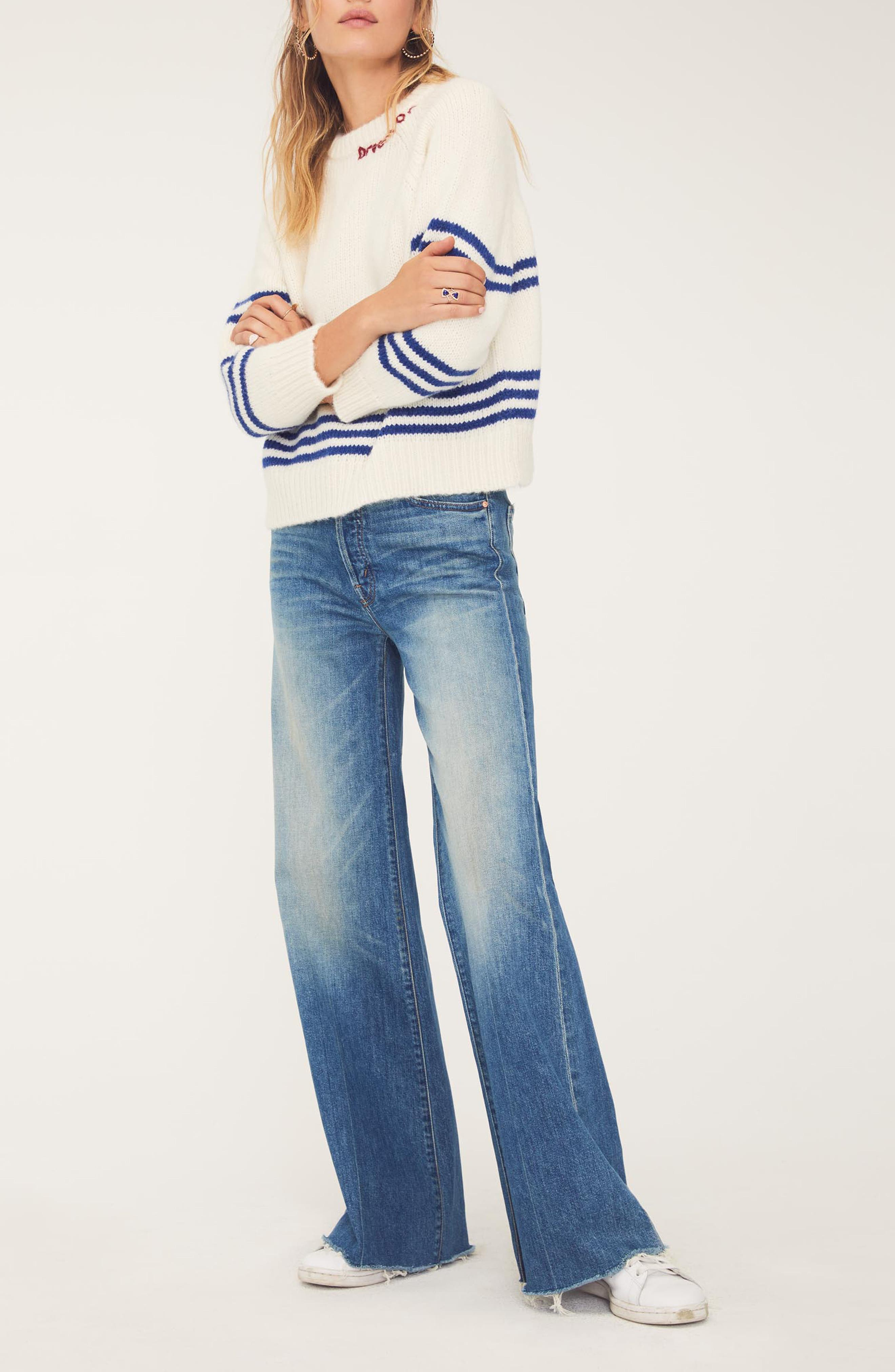 MOTHER, The Tomcat Roller Fray Jeans, Alternate thumbnail 5, color, SACRED