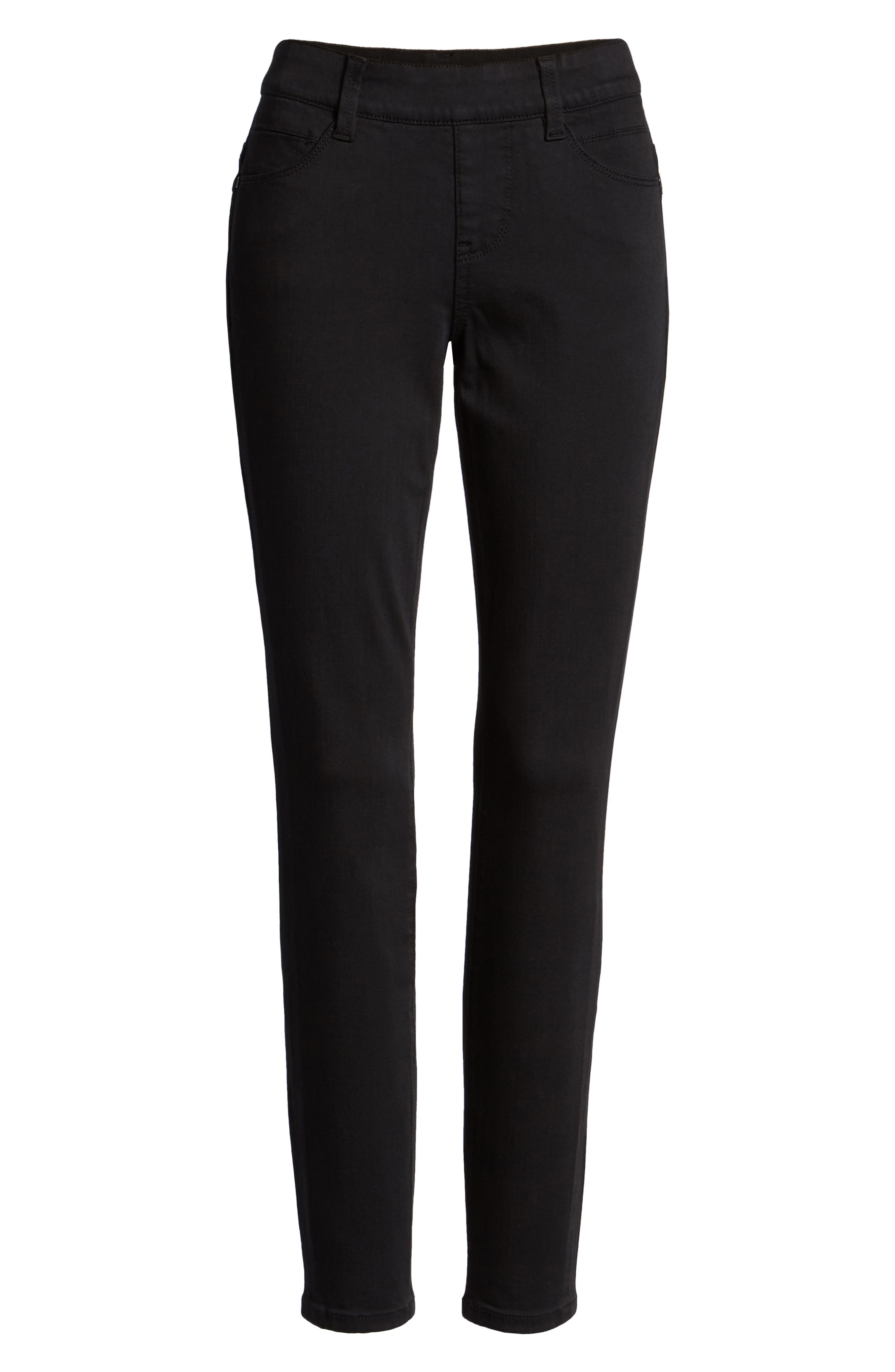 JAG JEANS, Bryn Pull-On Jeans, Alternate thumbnail 7, color, BLACK