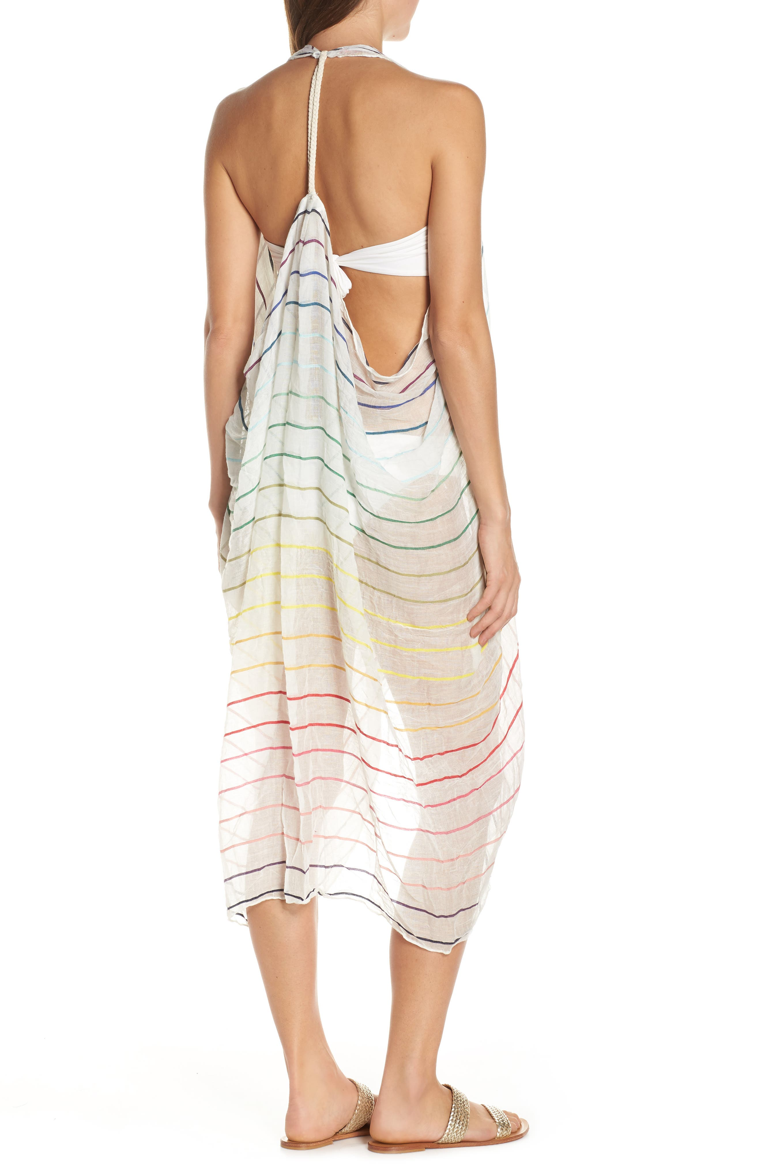 POOL TO PARTY, Spirit Cover-Up Vest, Alternate thumbnail 5, color, WHITE