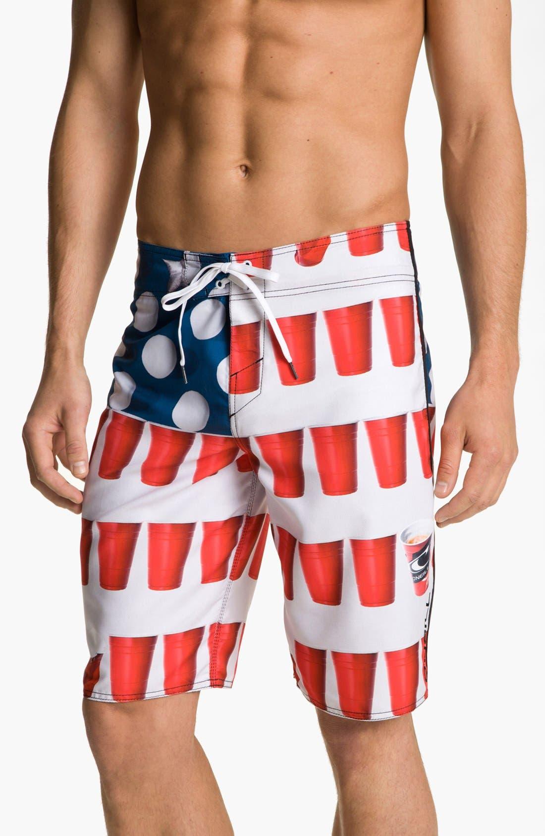 O'NEILL 'Murca' Board Shorts, Main, color, 100