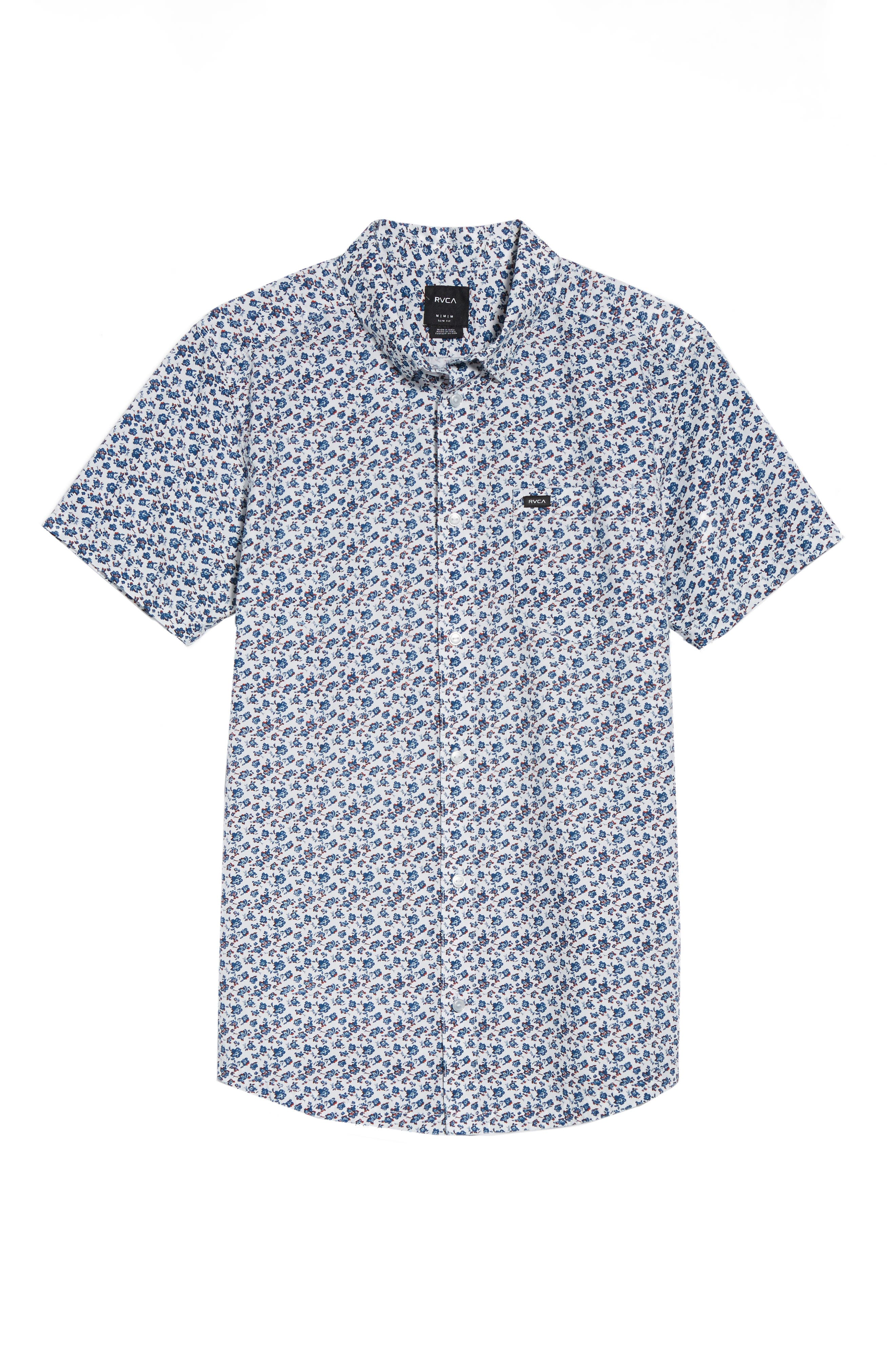 RVCA, Print Woven Shirt, Alternate thumbnail 6, color, ANTIQUE WHITE