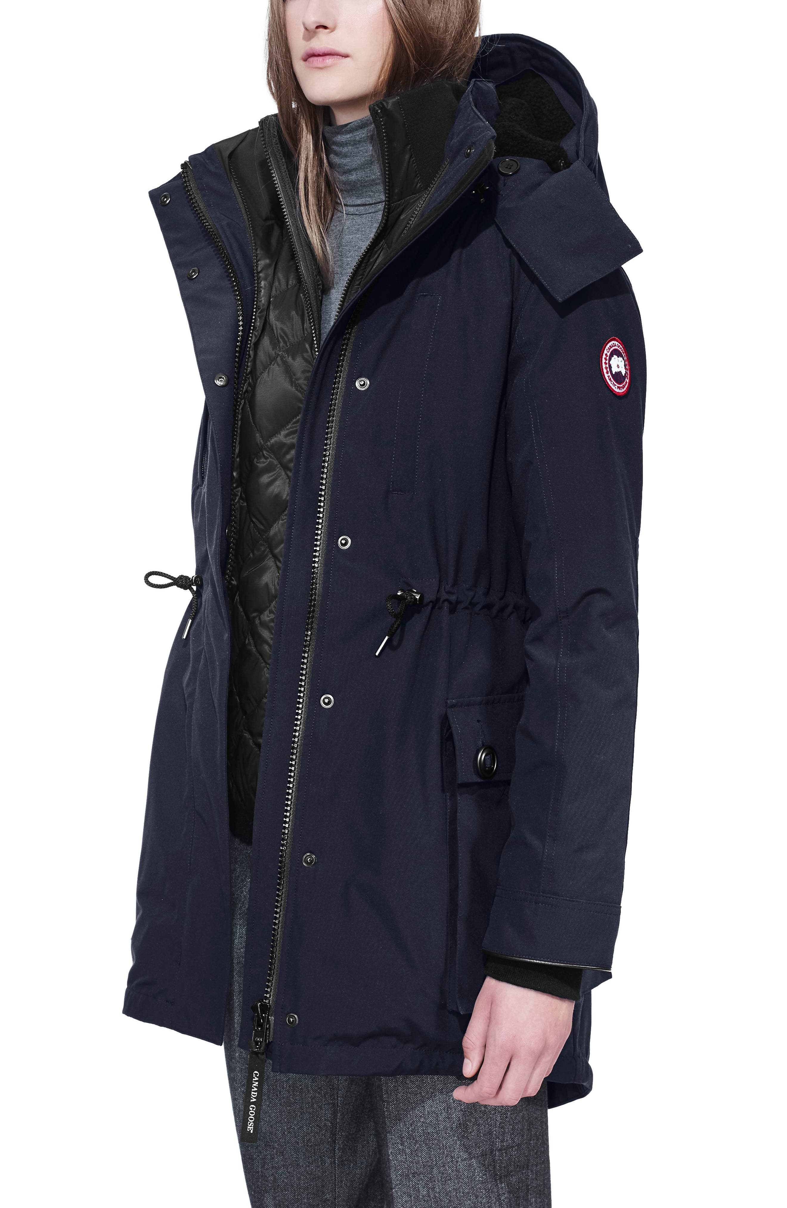 CANADA GOOSE, Perley Waterproof 675-Fill-Power Down 3-in-1 Parka, Alternate thumbnail 4, color, ADMIRAL BLUE