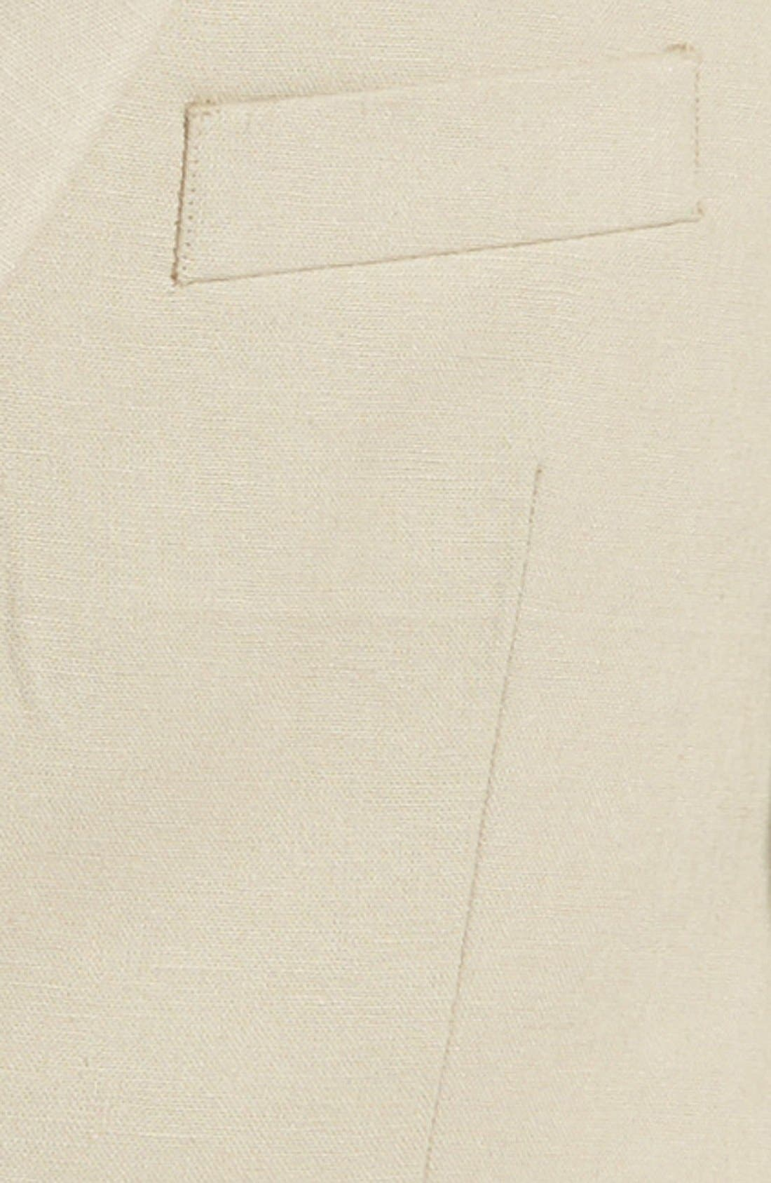 MICHAEL KORS, Linen Blend Blazer, Alternate thumbnail 2, color, TAN