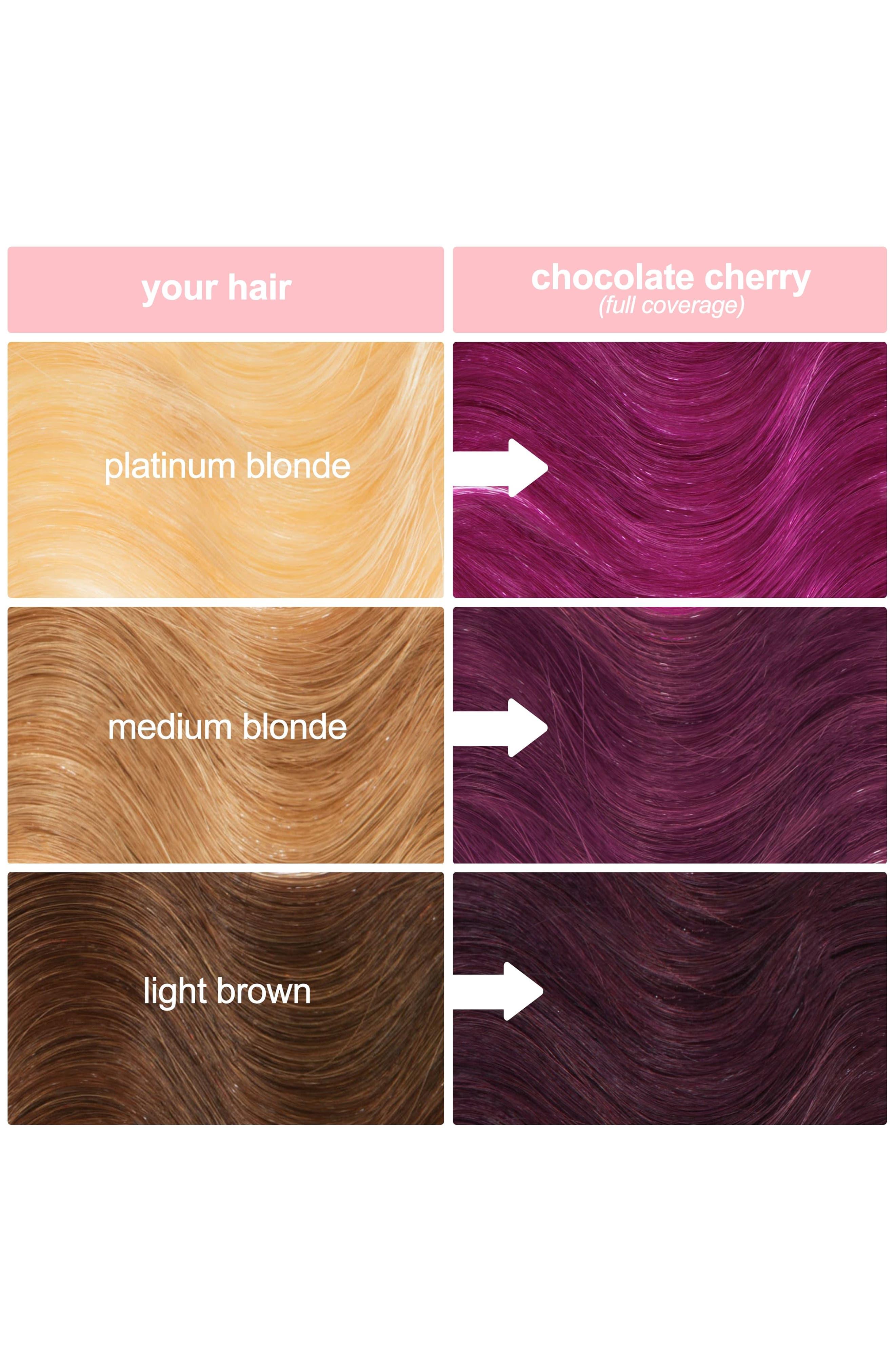 LIME CRIME, Unicorn Hair Full Coverage Semi-Permanent Hair Color, Alternate thumbnail 4, color, CHOCOLATE CHERRY