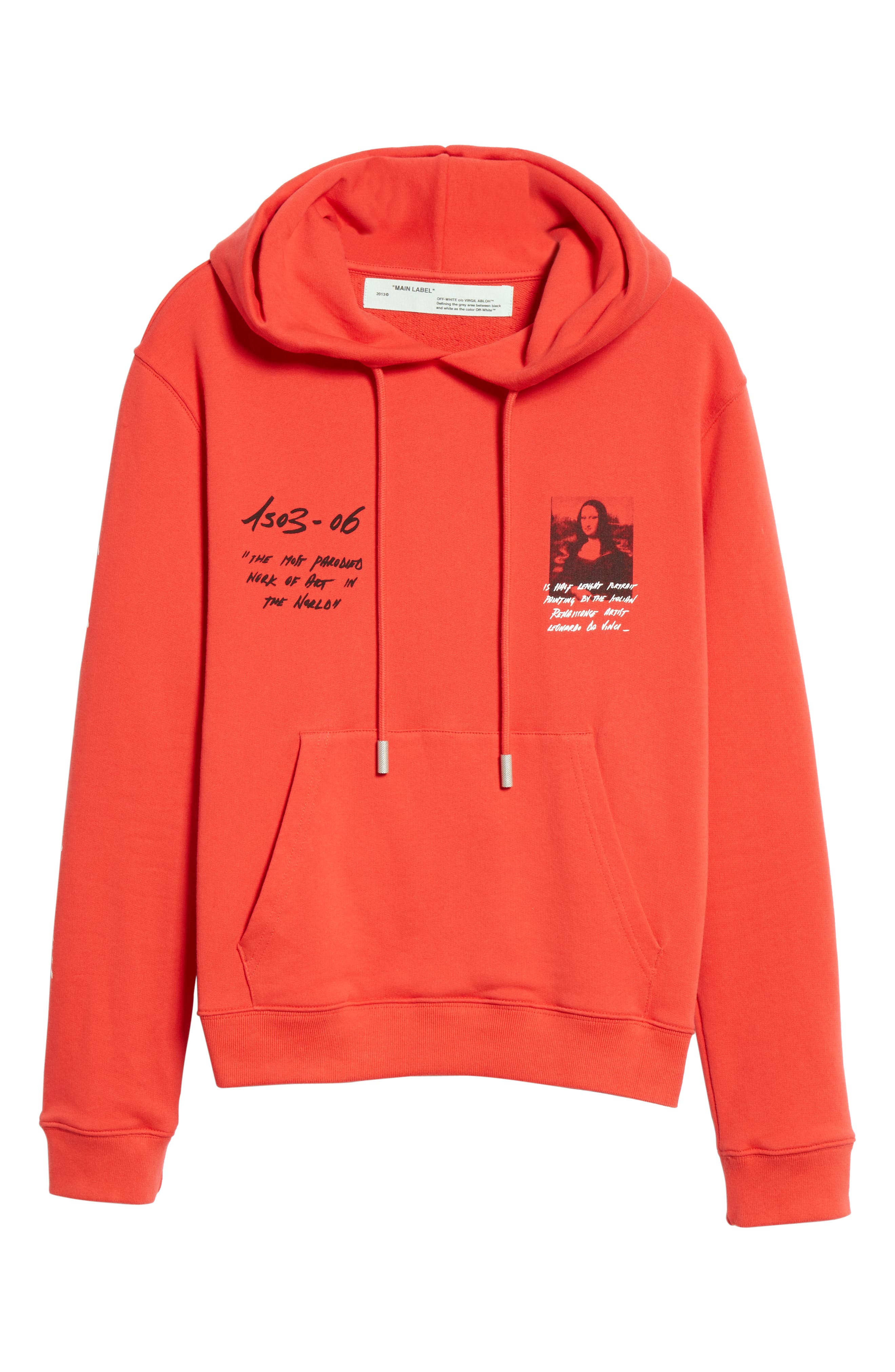 OFF-WHITE, Monnalisa Slim Fit Graphic Hoodie, Alternate thumbnail 6, color, RED