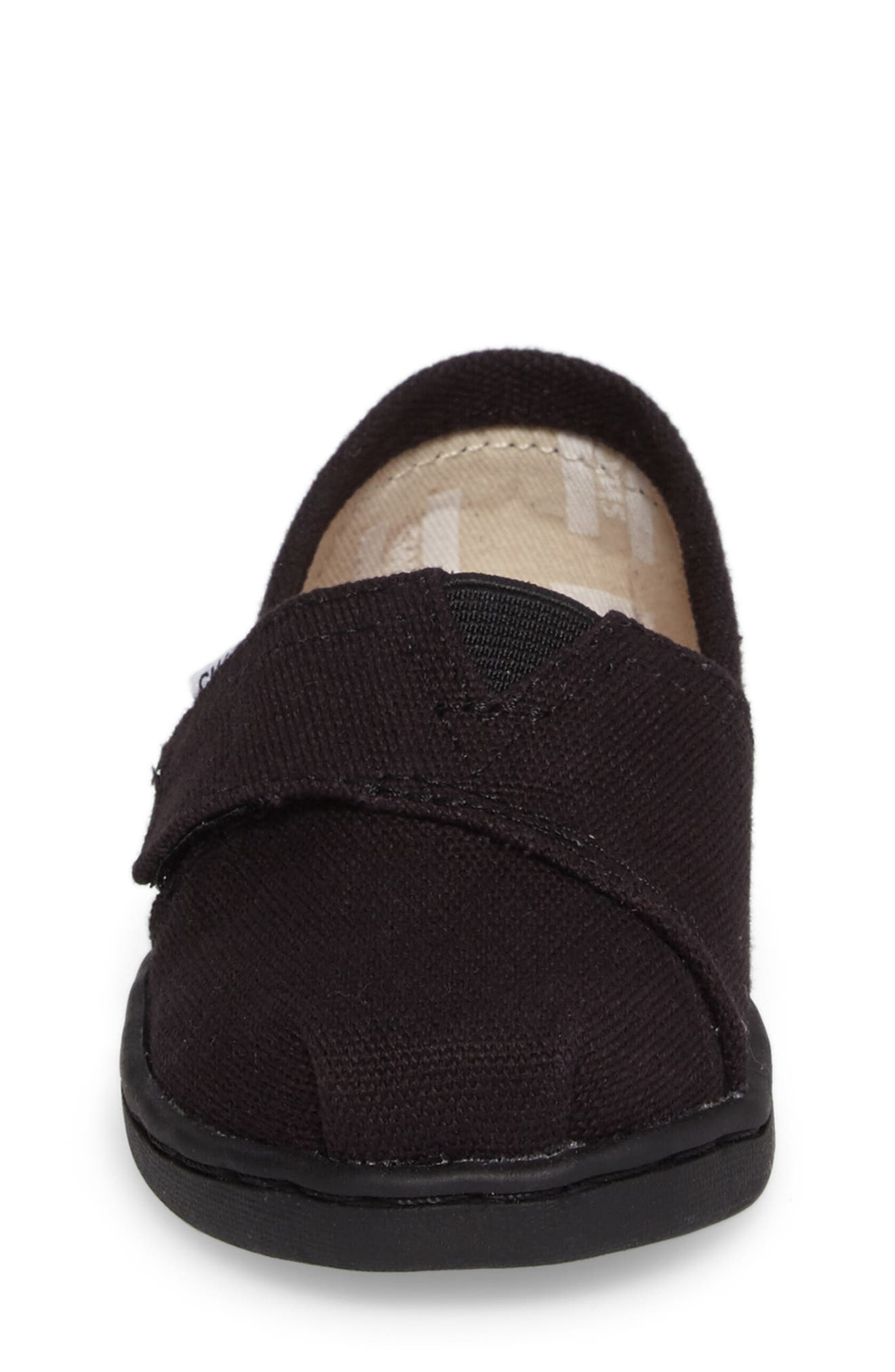 TOMS, 2.0 Alpargata Slip-On, Alternate thumbnail 4, color, BLACK CANVAS