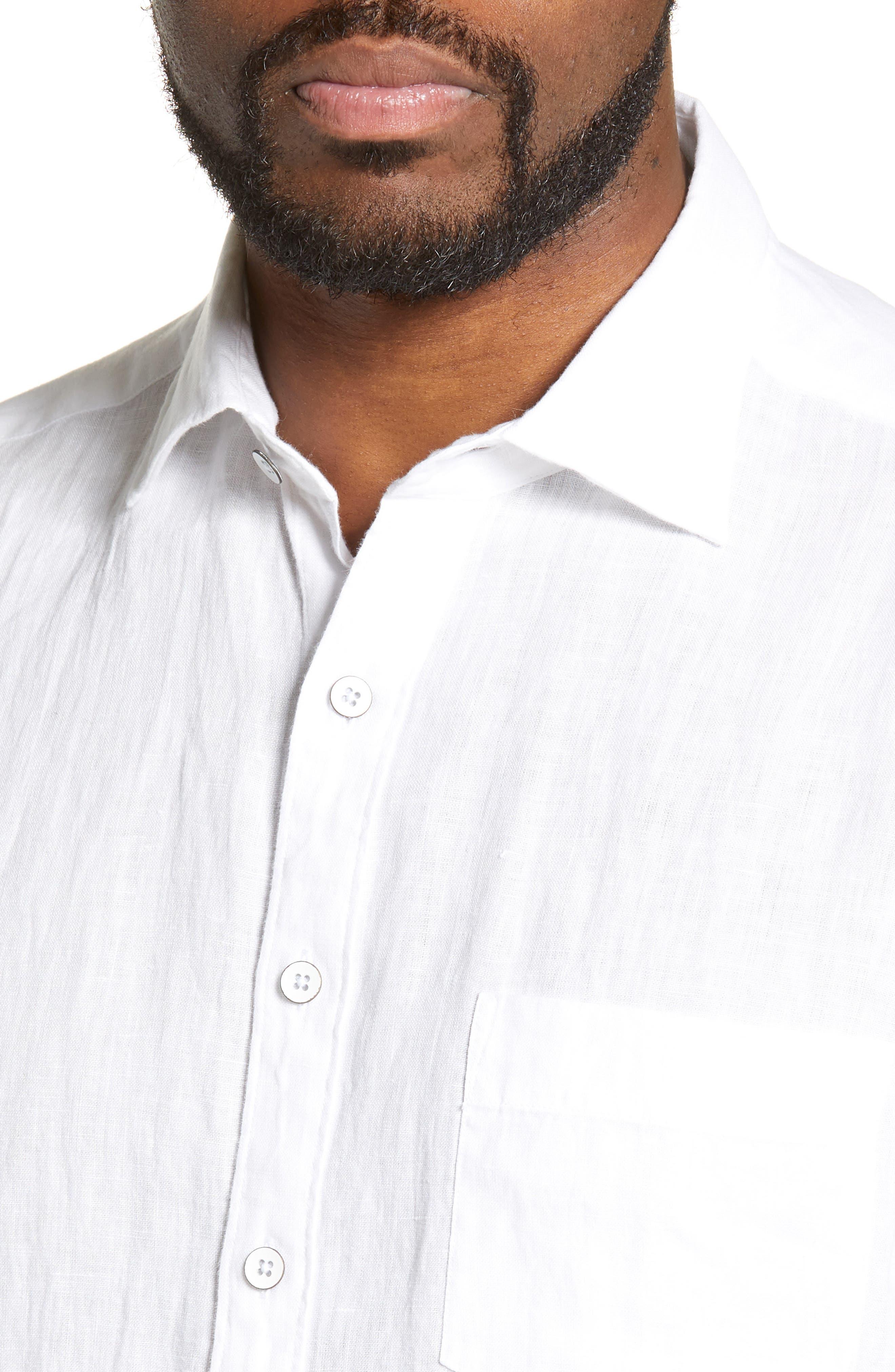 RODD & GUNN, Regular Fit Ellerslie Linen Shirt, Alternate thumbnail 2, color, IVORY