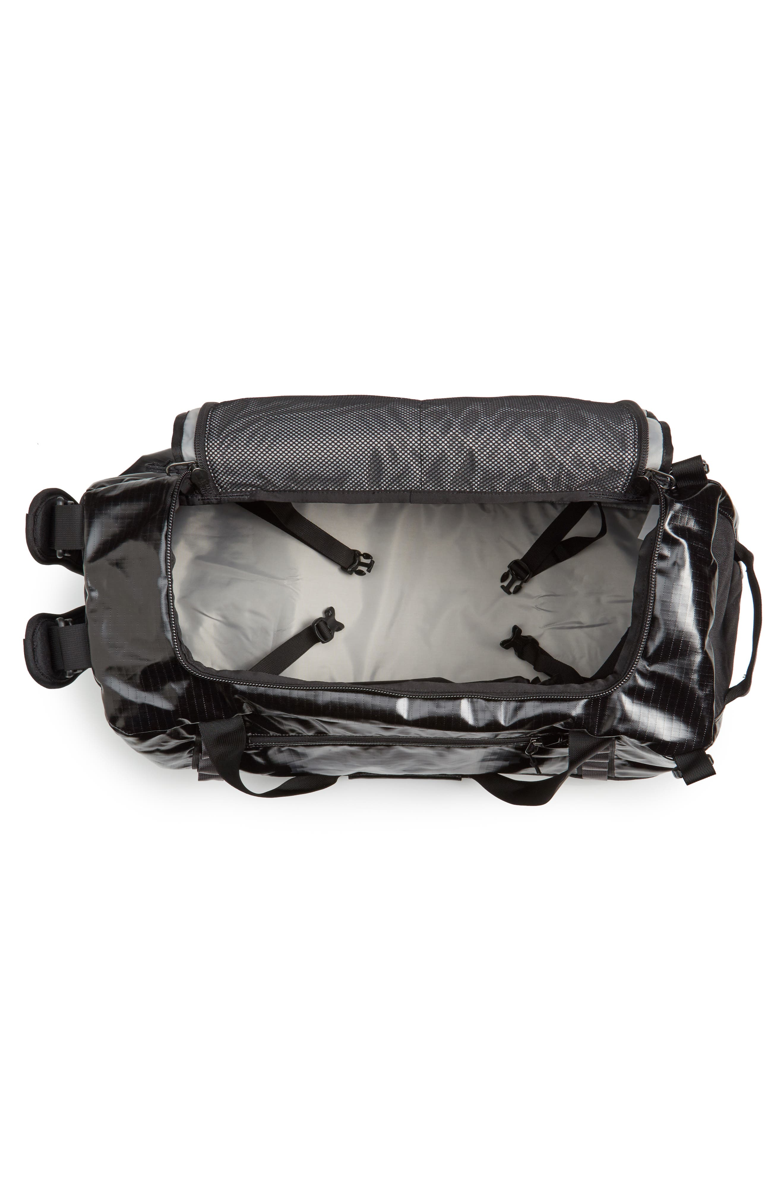 PATAGONIA, Black Hole Water Repellent 60-Liter Duffle Bag, Alternate thumbnail 4, color, BLACK