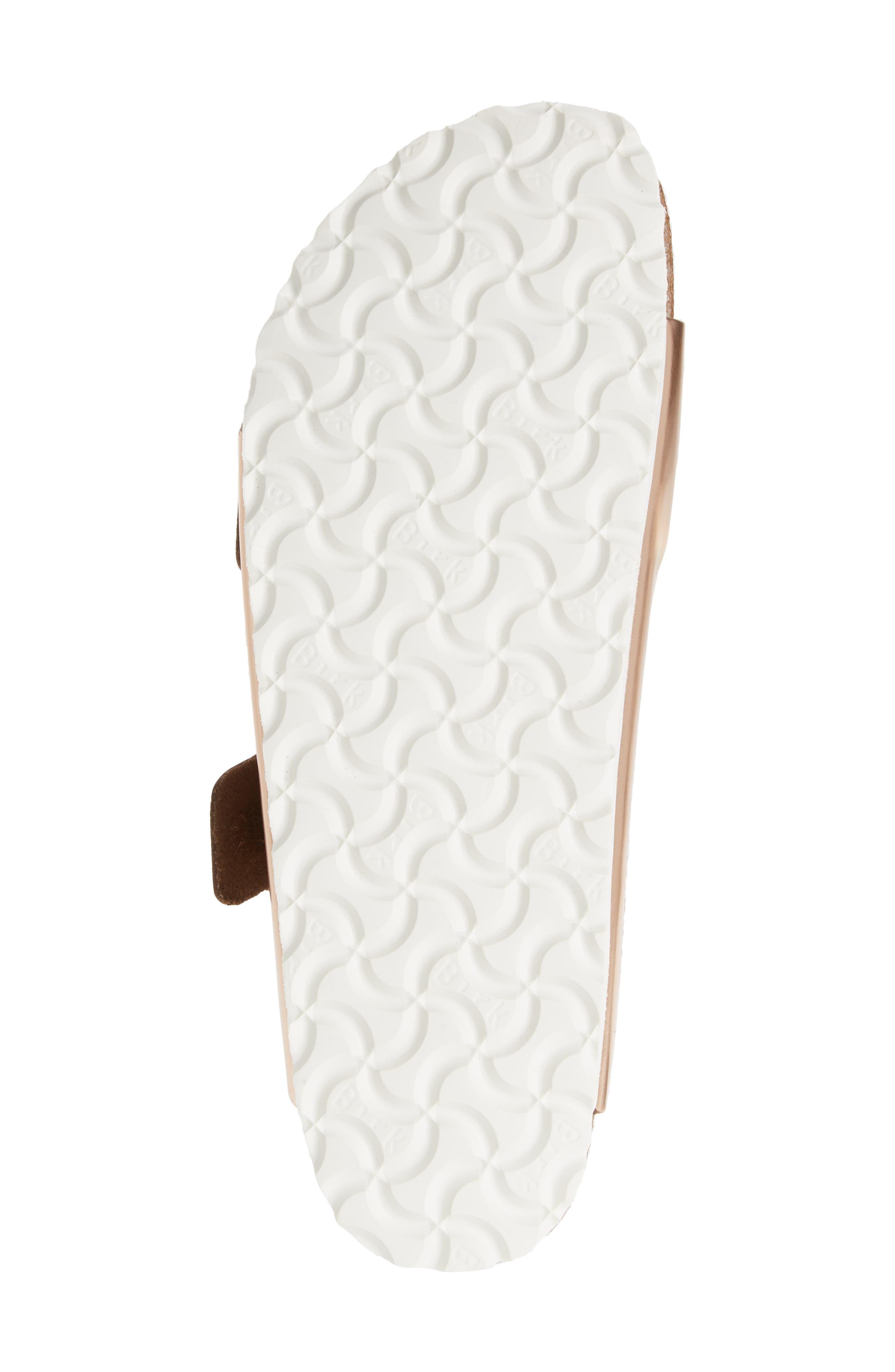 BIRKENSTOCK, 'Arizona' Soft Footbed Sandal, Alternate thumbnail 6, color, COPPER LEATHER