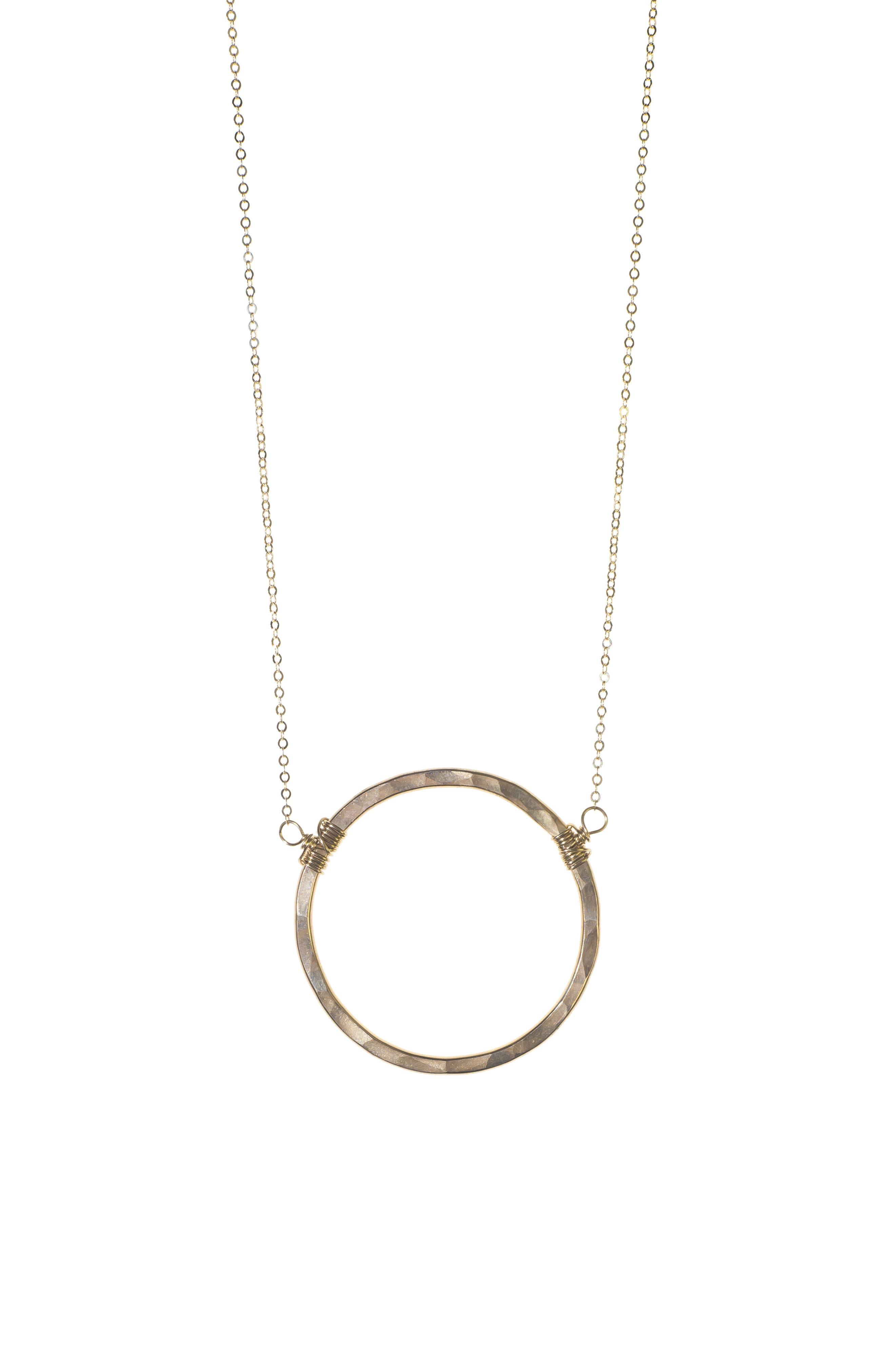 NASHELLE Large Hoop Necklace, Main, color, GOLD