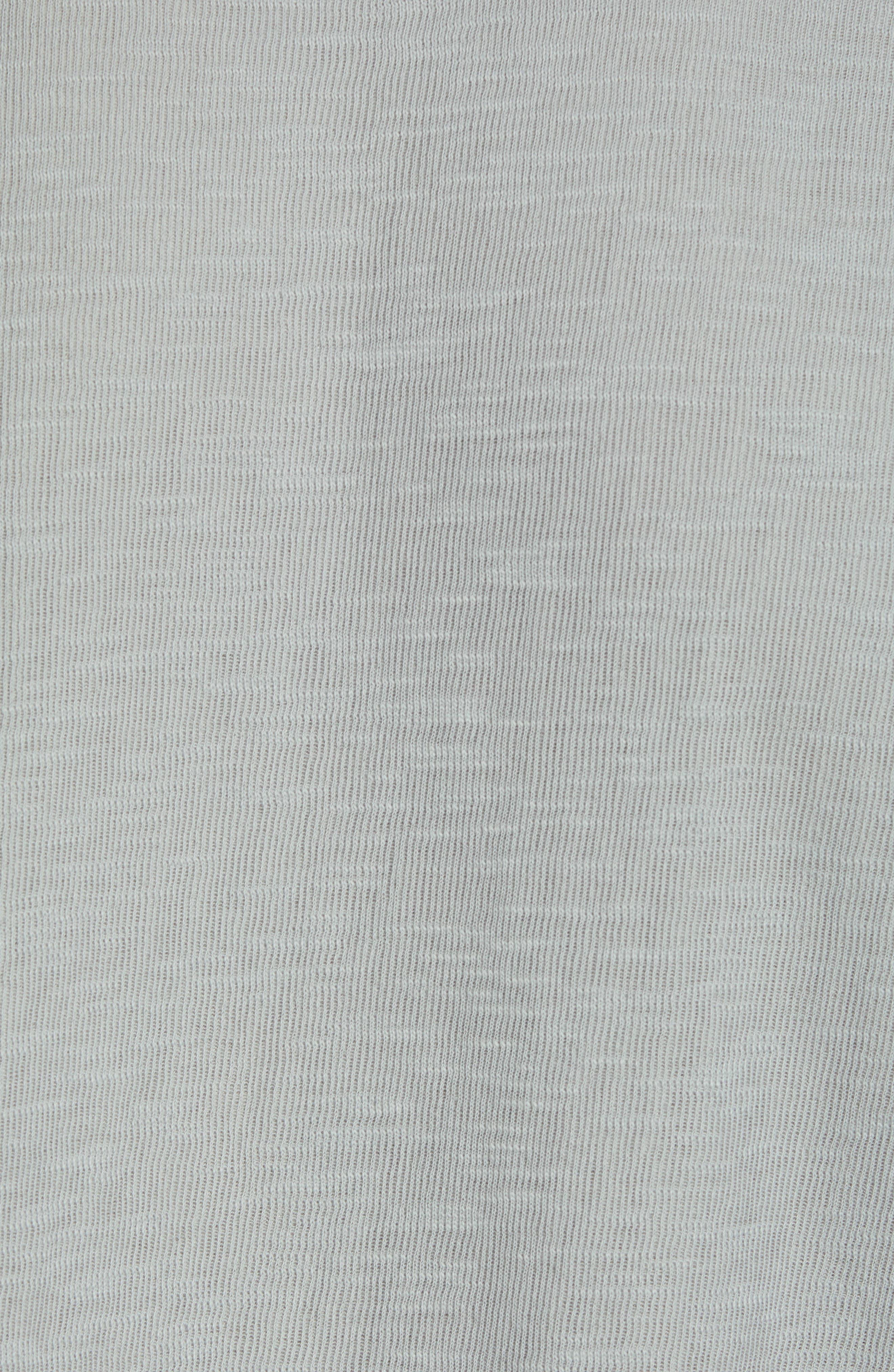 GOODLIFE, Double Layer Slim Crewneck T-Shirt, Alternate thumbnail 5, color, QUARRY