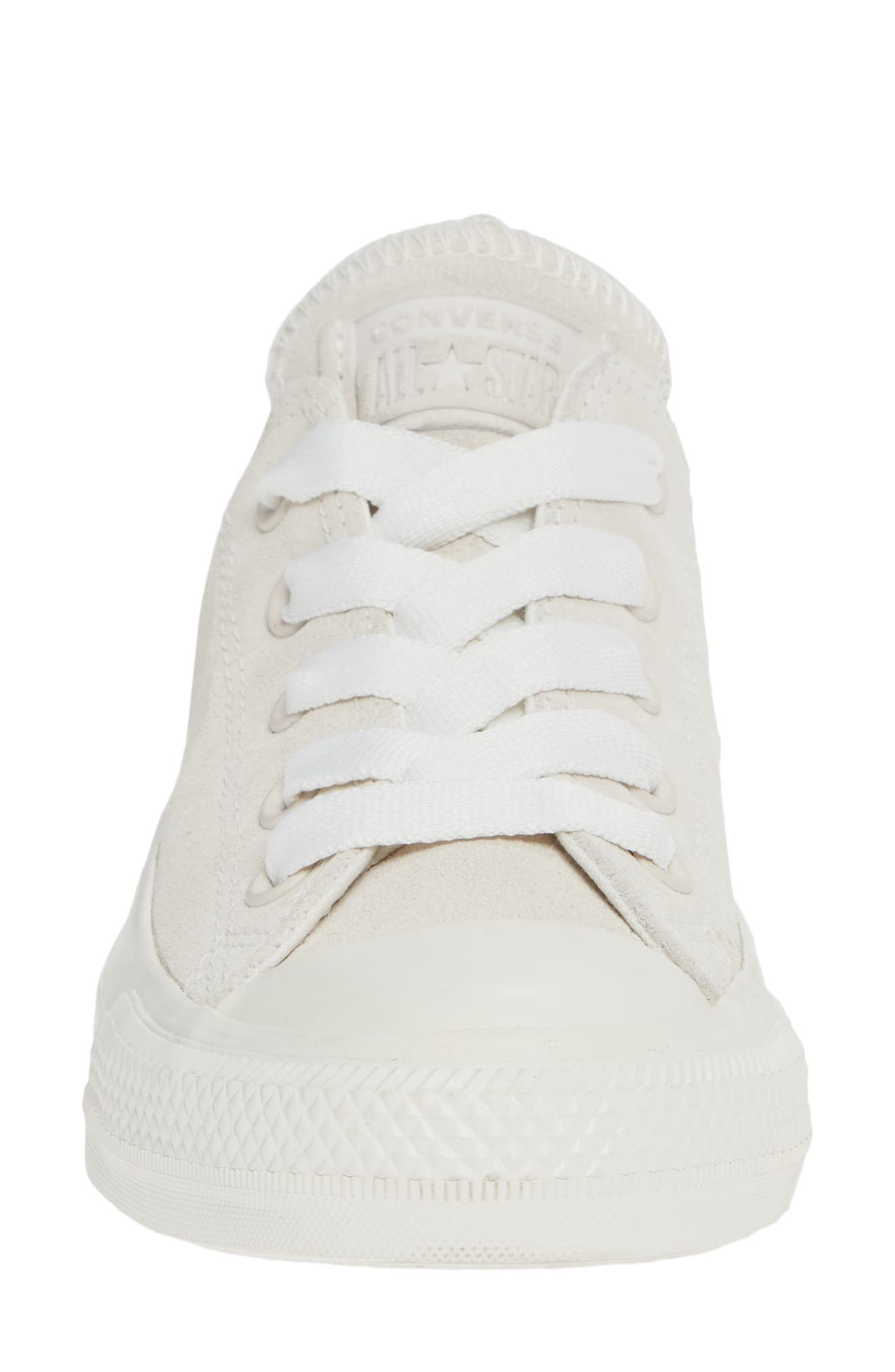 CONVERSE, Chuck Taylor<sup>®</sup> All Star<sup>®</sup> Ox Sneaker, Alternate thumbnail 4, color, VINTAGE WHITE SUEDE
