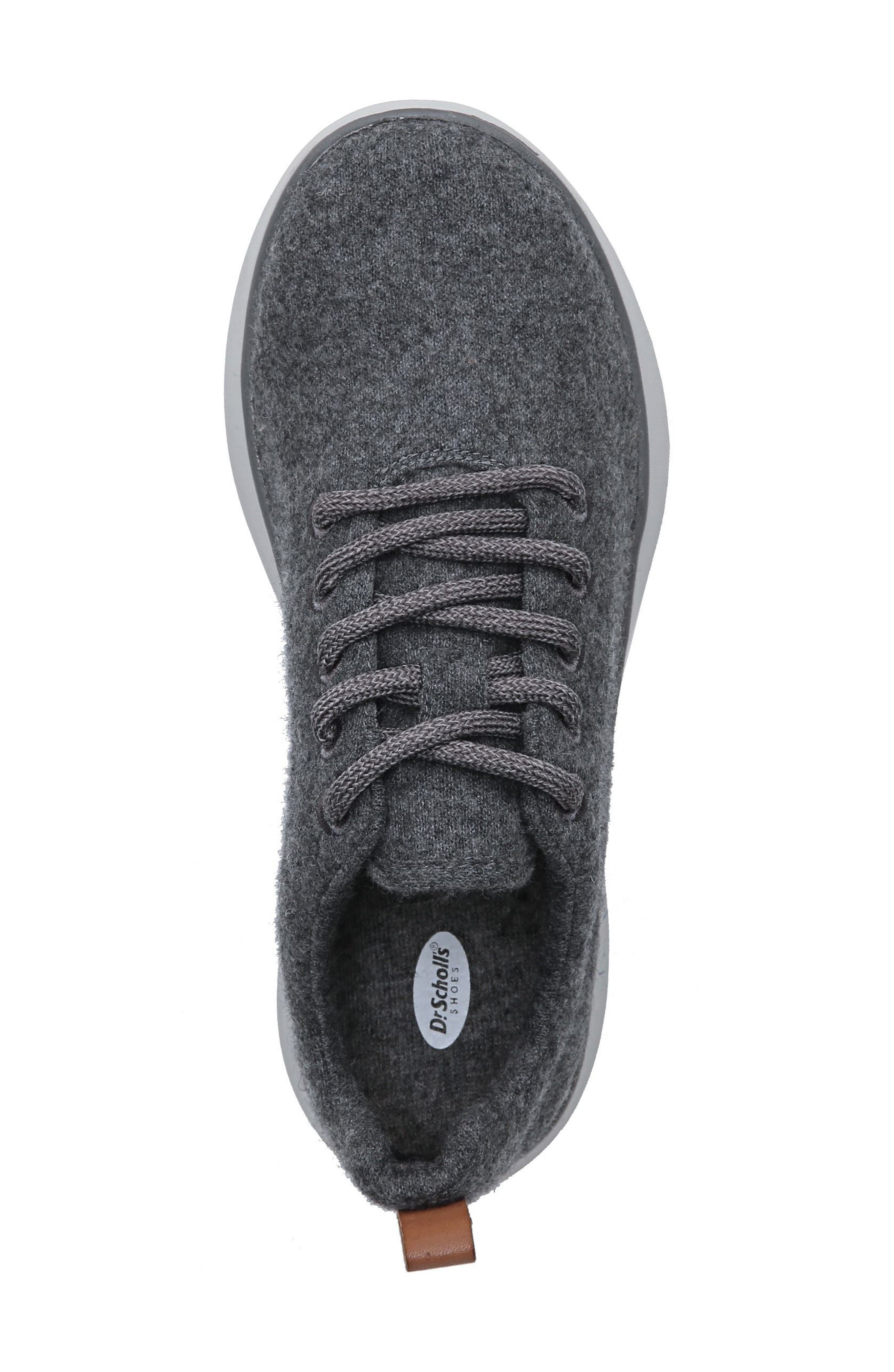 DR. SCHOLL'S, Freestep Sneaker, Alternate thumbnail 3, color, DARK GREY FABRIC