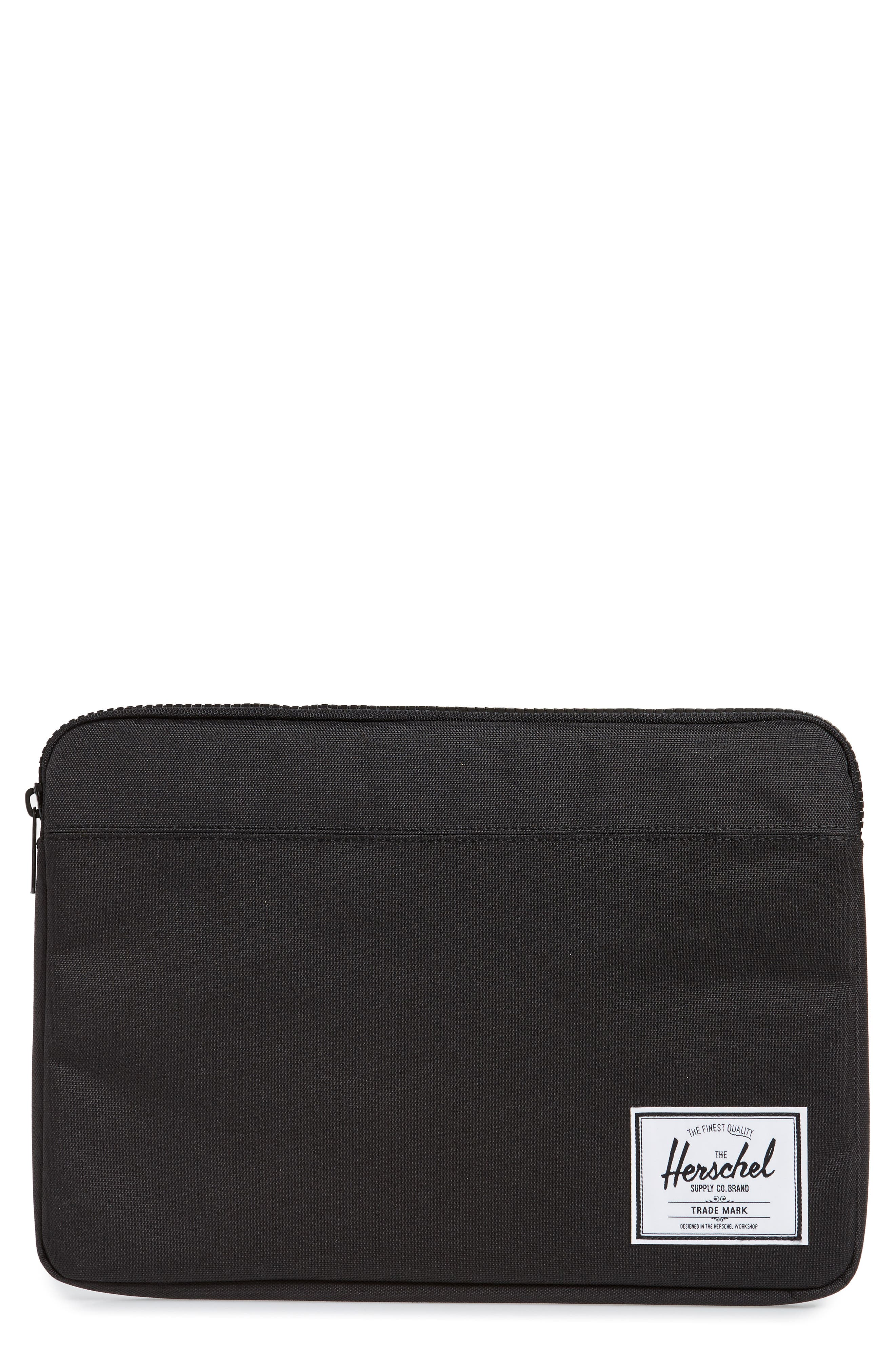 HERSCHEL SUPPLY CO., Anchor 13-Inch MacBook Sleeve, Main thumbnail 1, color, BLACK