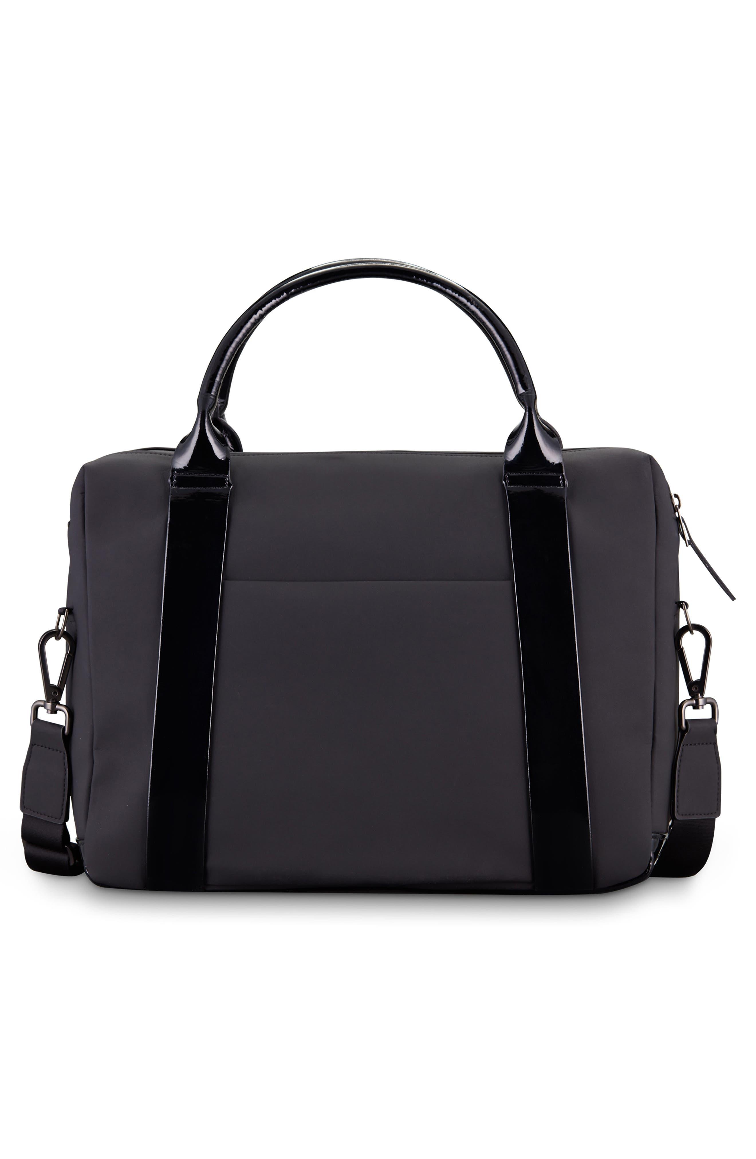 VESSEL, Signature 2.0 Faux Leather Briefcase, Alternate thumbnail 2, color, MATTE/ PATENT BLACK