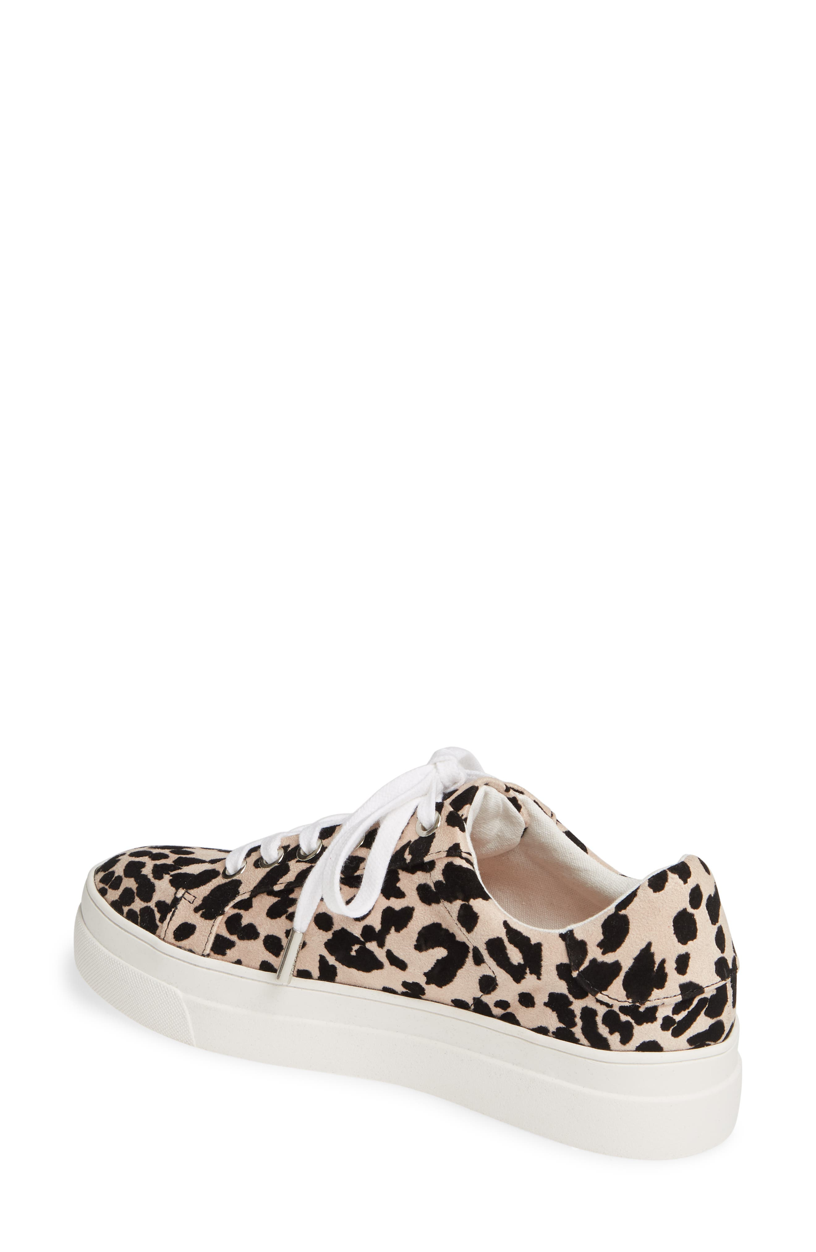 TOPSHOP, Candy Platform Sneaker, Alternate thumbnail 2, color, NUDE MULTI