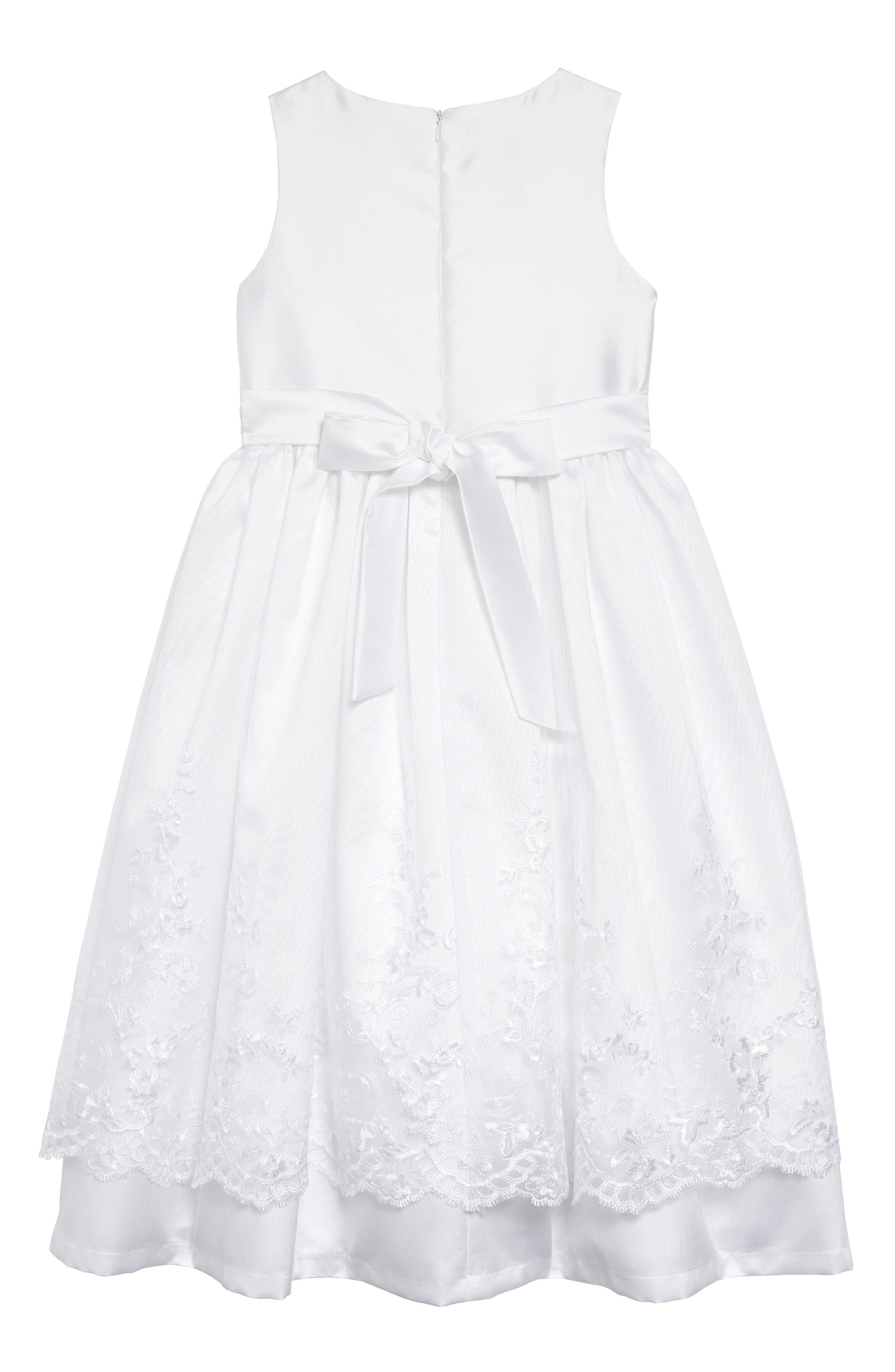 IRIS & IVY, Sweetheart Fit & Flare Mikado Dress & Jacket Set, Alternate thumbnail 3, color, WHITE