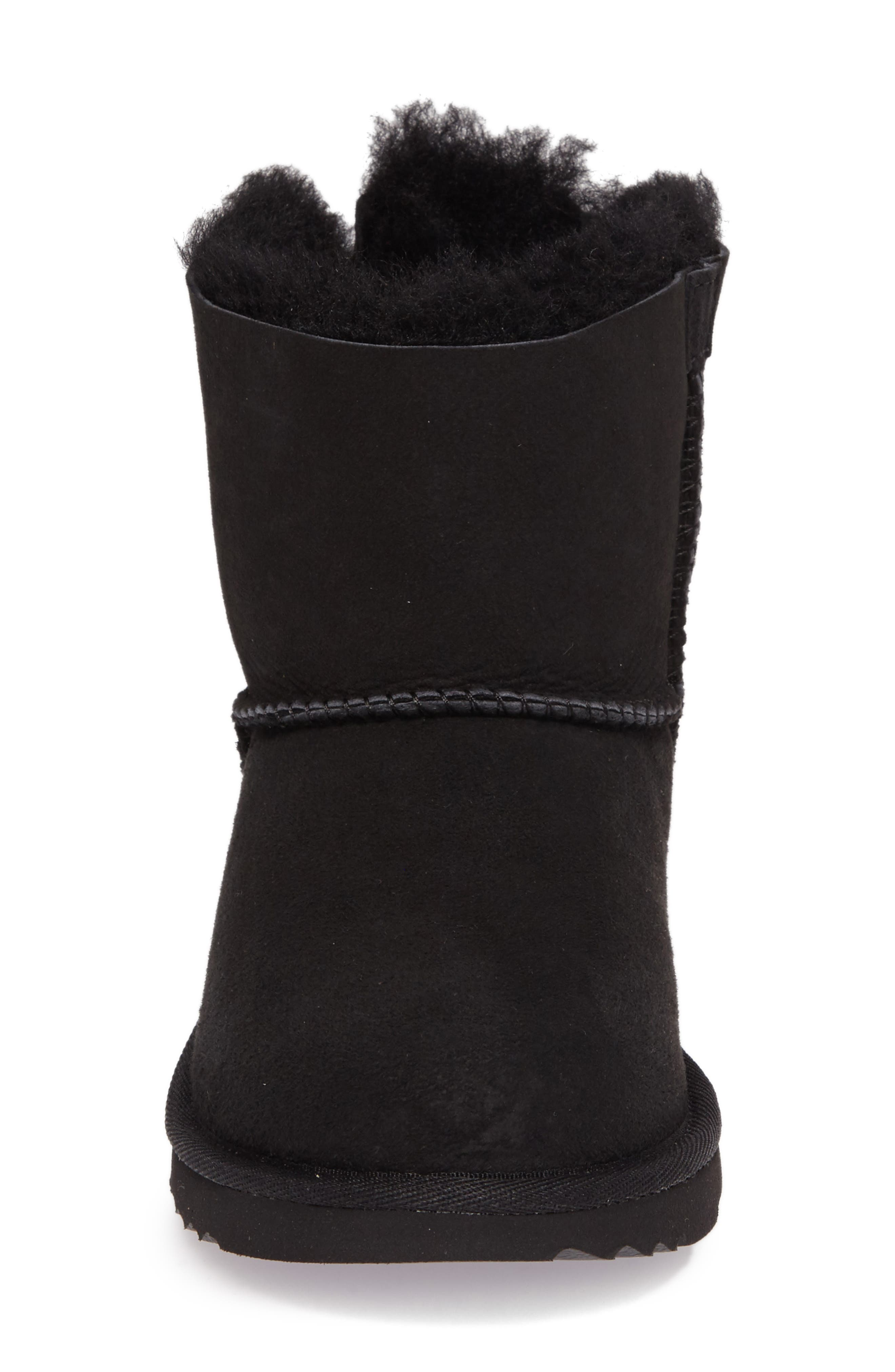 UGG<SUP>®</SUP>, Mini Bailey Bow II Water Resistant Boot, Alternate thumbnail 4, color, BLACK