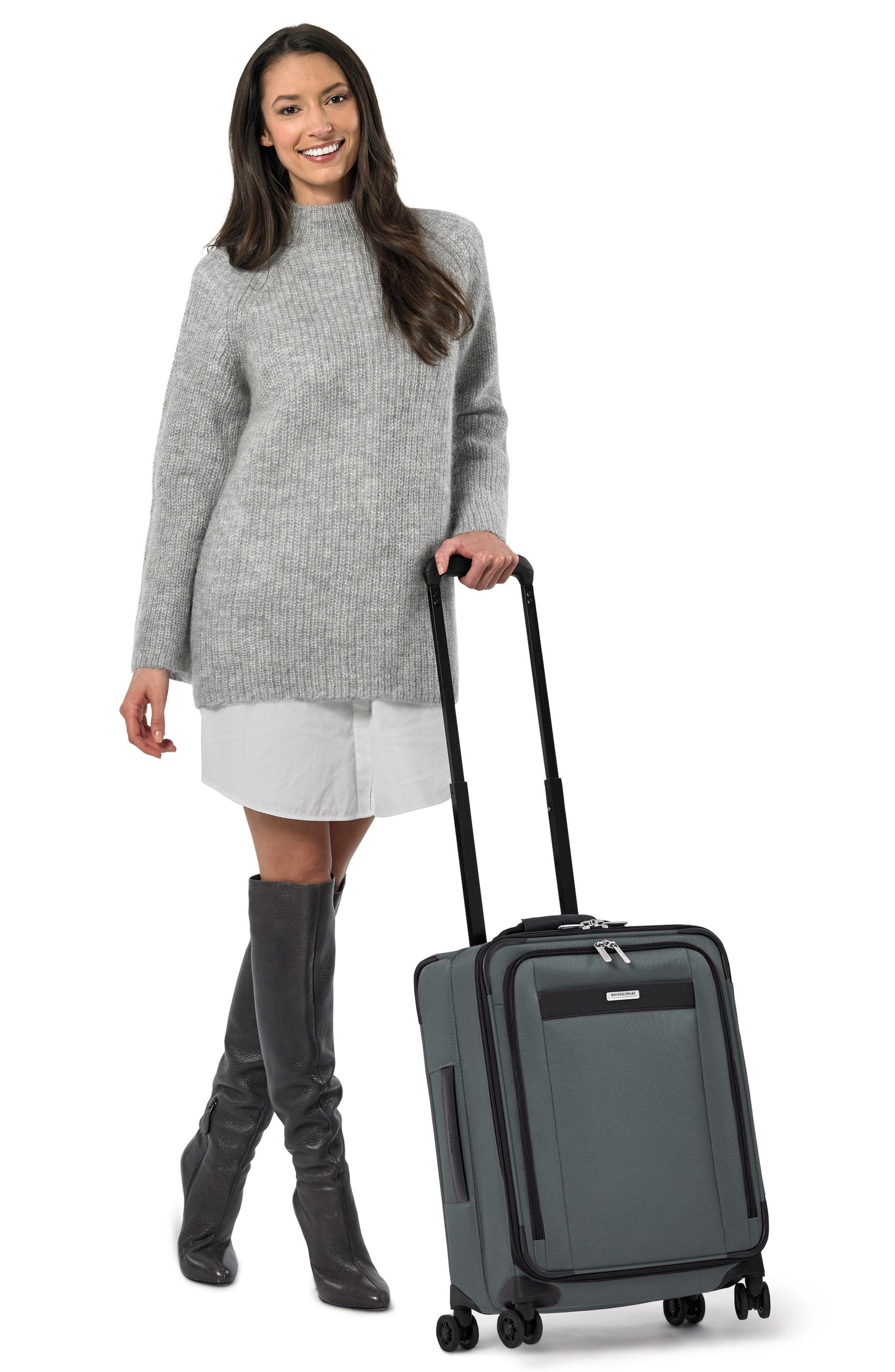 BRIGGS & RILEY, Transcend VX Wide Expandable 21-Inch Spinner Suitcase, Alternate thumbnail 7, color, SLATE GREY