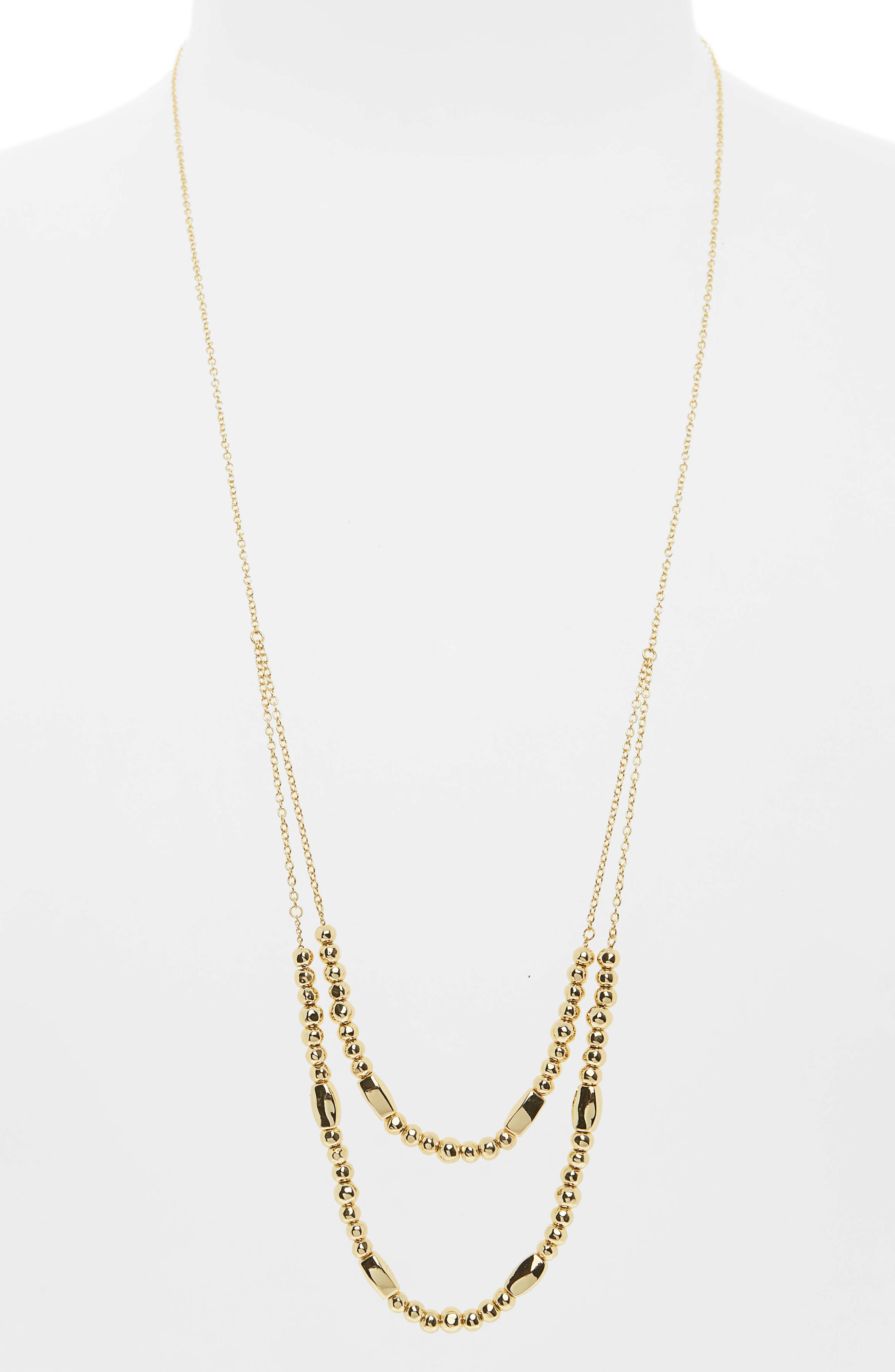 GORJANA Kellen Adjustable Layer Necklace, Main, color, GOLD