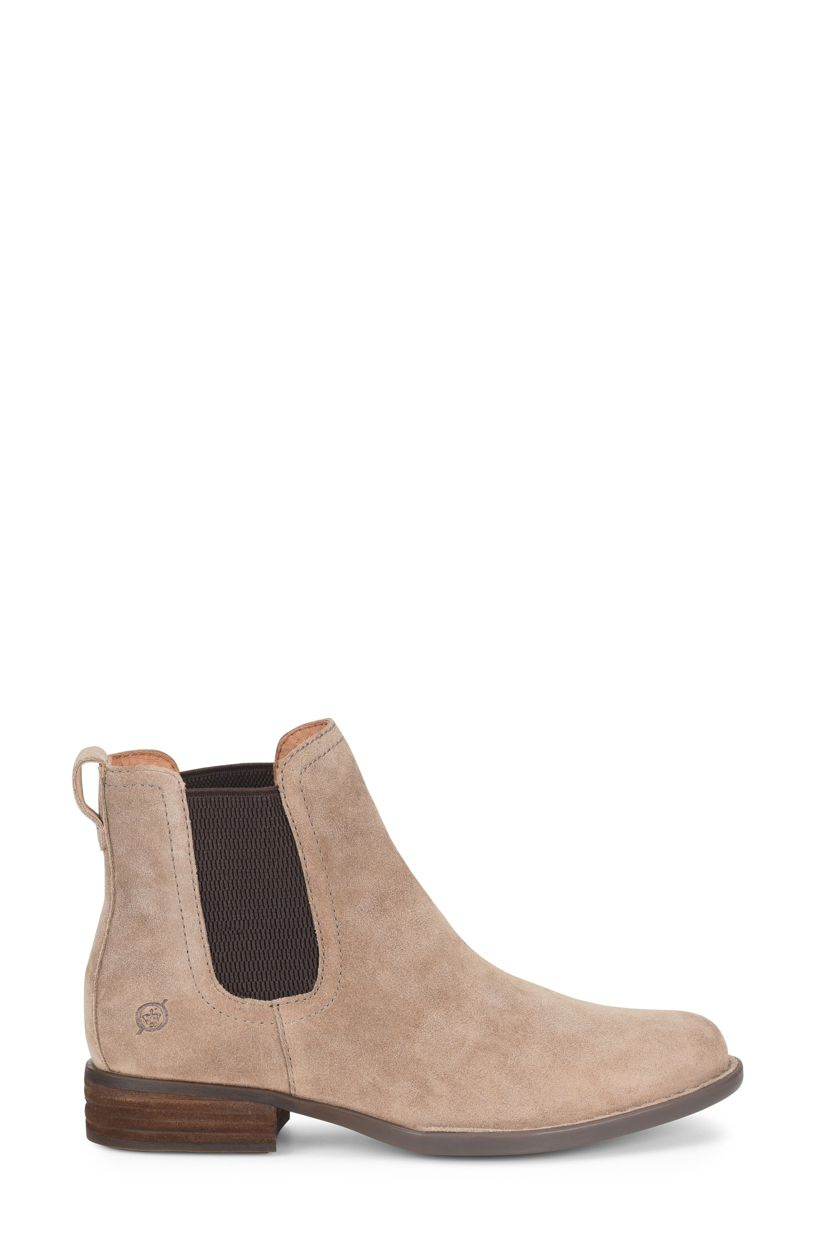 BØRN, Casco Chelsea Boot, Alternate thumbnail 3, color, DARK TAUPE SUEDE