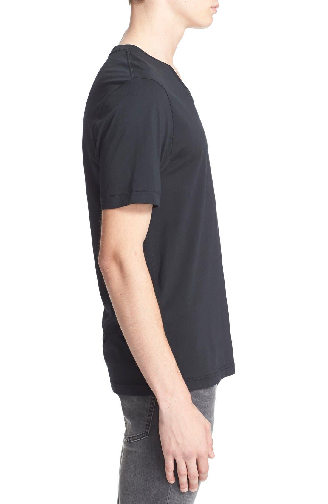 BLK DNM, 'T-Shirt 3' Pima Cotton T-Shirt, Alternate thumbnail 4, color, 001