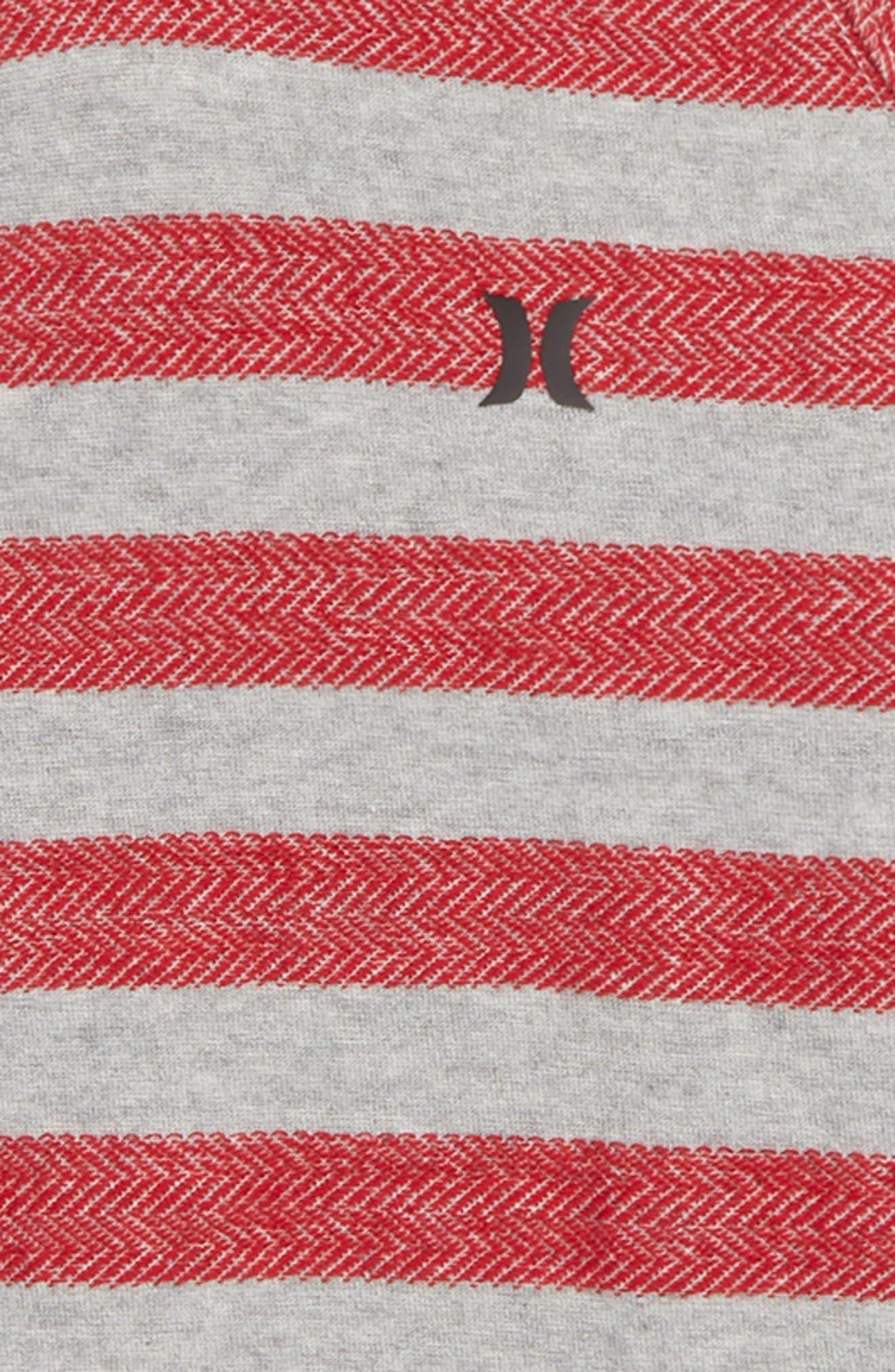 HURLEY, Herringbone Pullover Hoodie, Alternate thumbnail 2, color, 020
