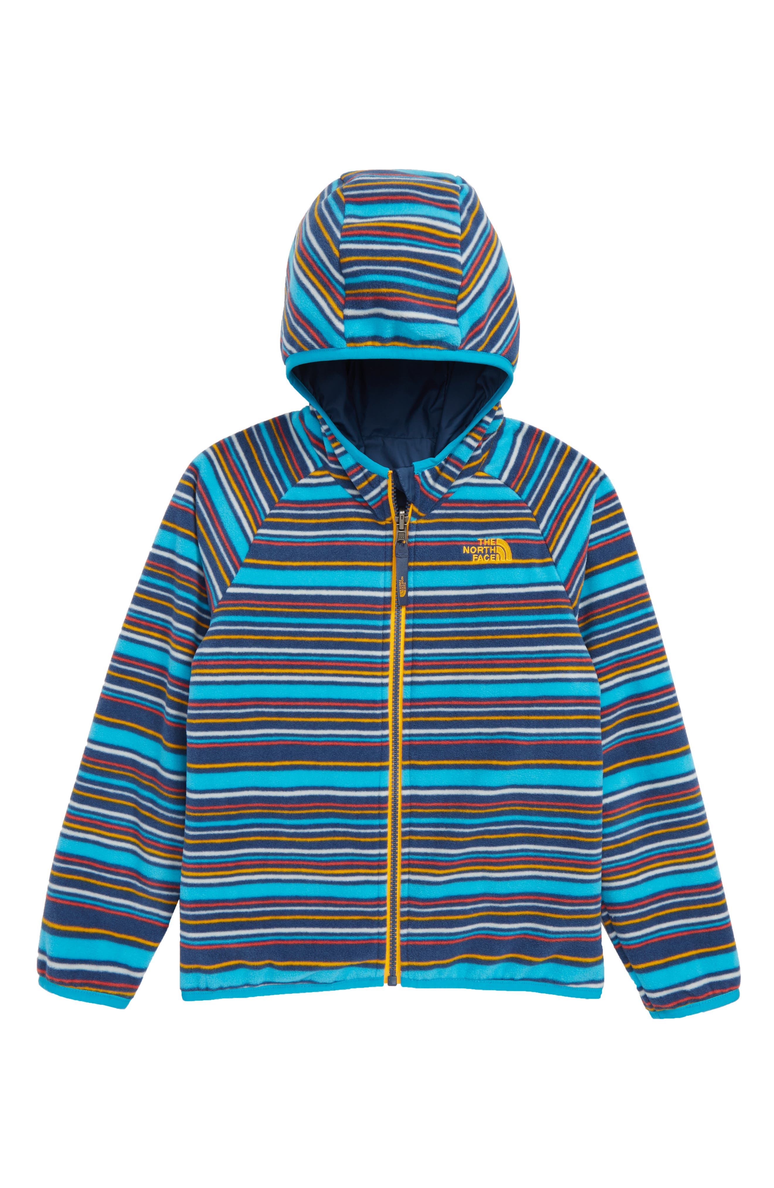THE NORTH FACE, Breezeway Reversible Water Repellent Jacket, Alternate thumbnail 2, color, SHADY BLUE