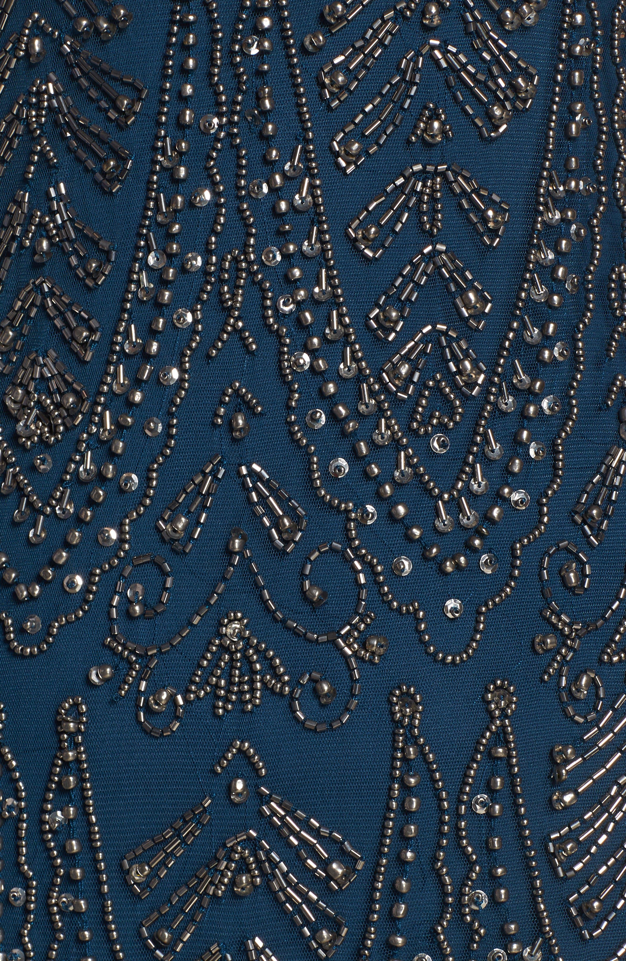 PISARRO NIGHTS, Middy Zigzag Sheath Dress, Alternate thumbnail 6, color, 400